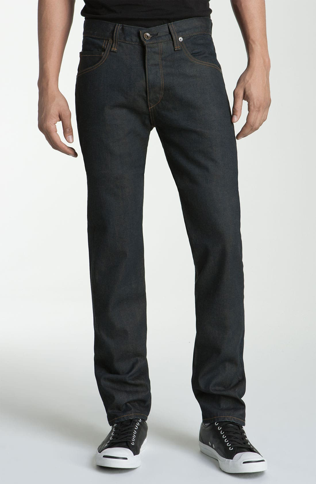 Alternate Image 4  - rag & bone 'RB15X' Slim Straight Jeans (Olive One Year Wash)