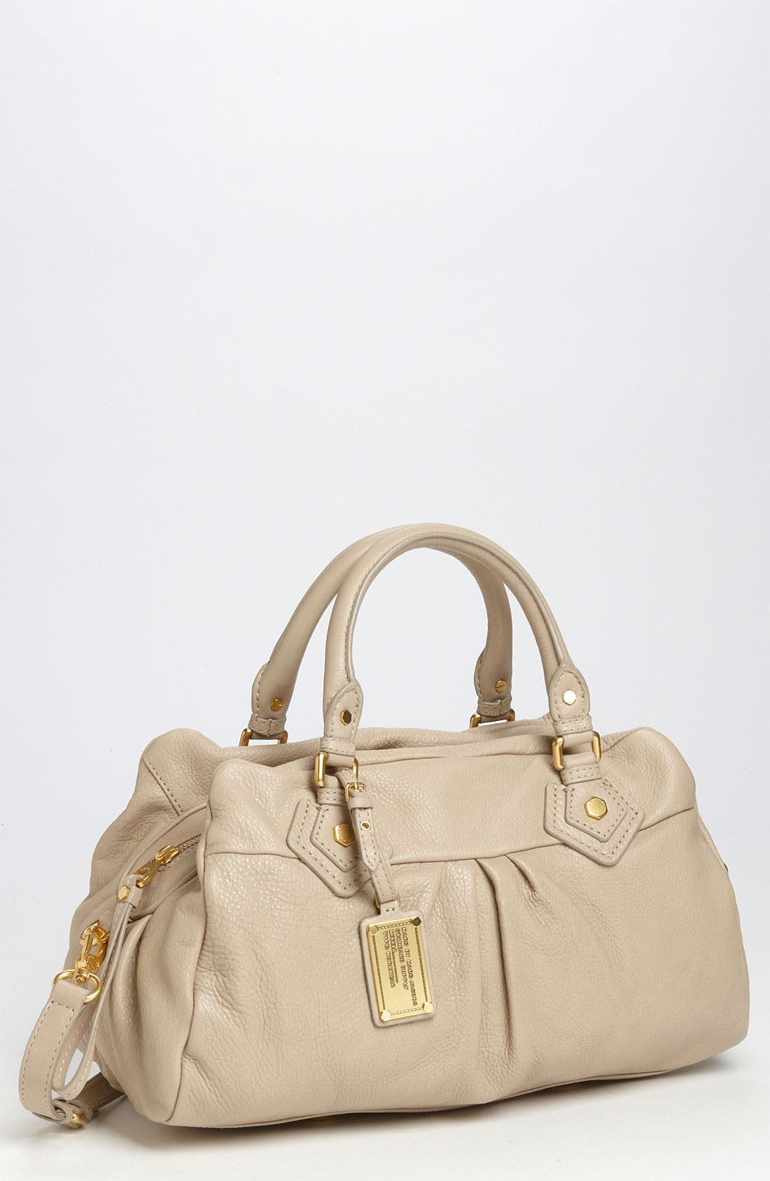 MARC BY MARC JACOBS 'Classic Q - Groovee' Satchel,                             Main thumbnail 1, color,                             Creme
