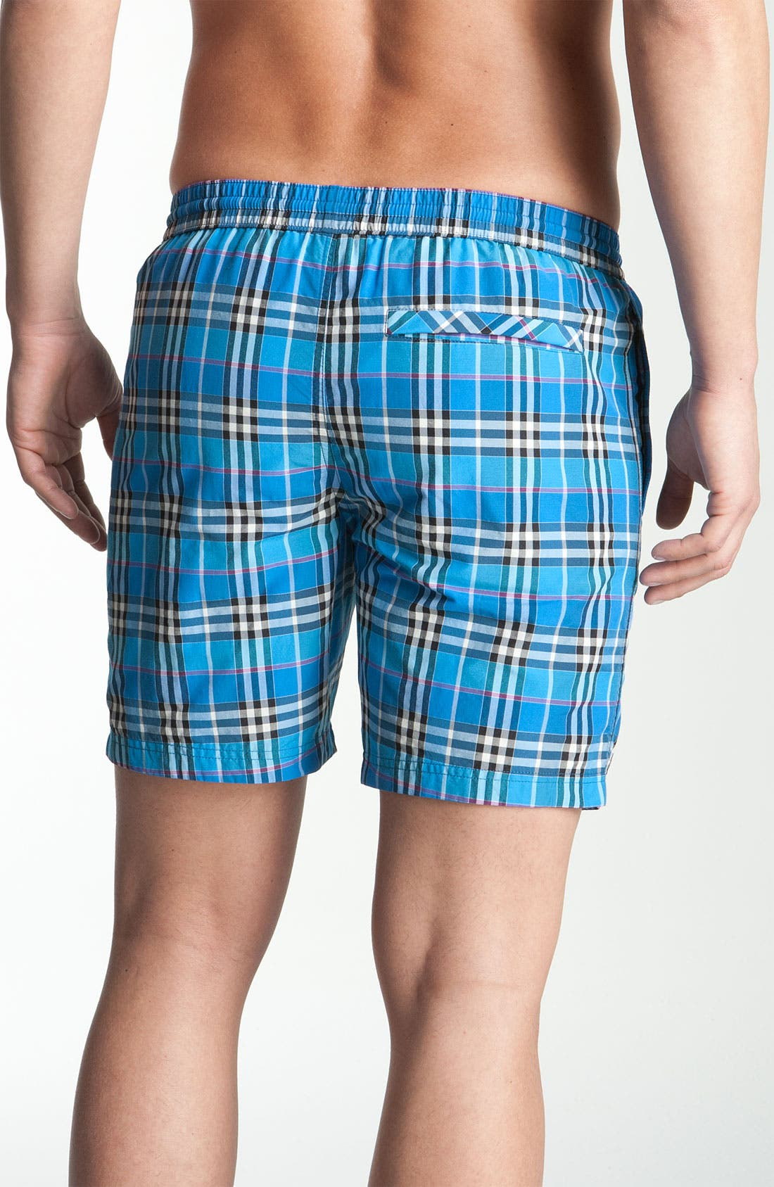 Alternate Image 2  - Burberry Brit Check Print Swim Trunks