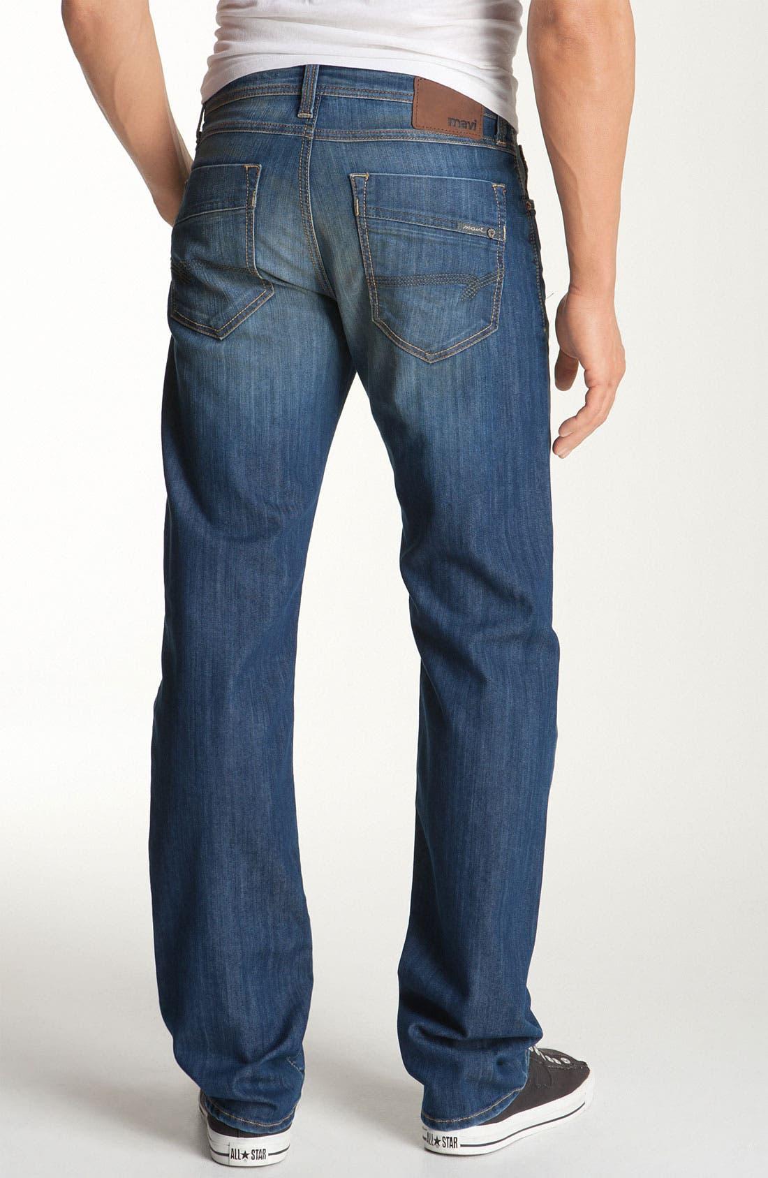 Main Image - Mavi Jeans 'Zach' Straight Leg Jeans (Hazy Maui)