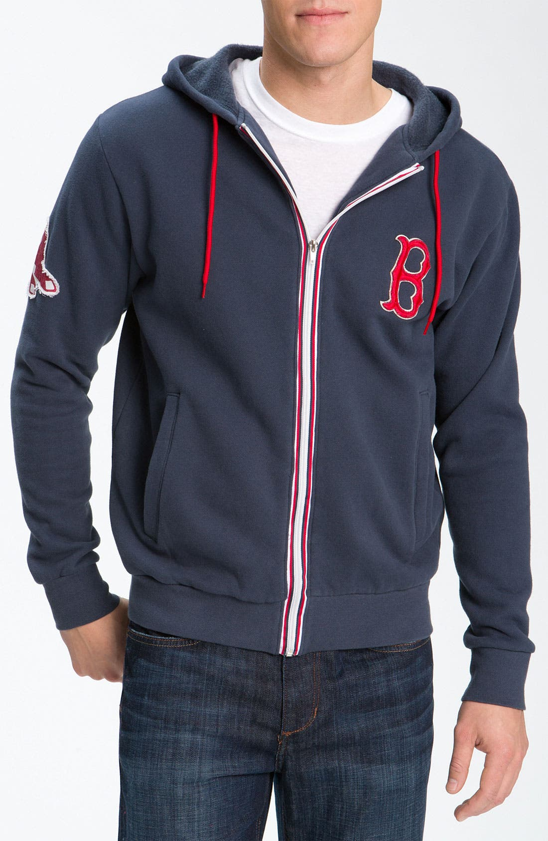 'Boston Red Sox' Hoodie,                         Main,                         color, Navy
