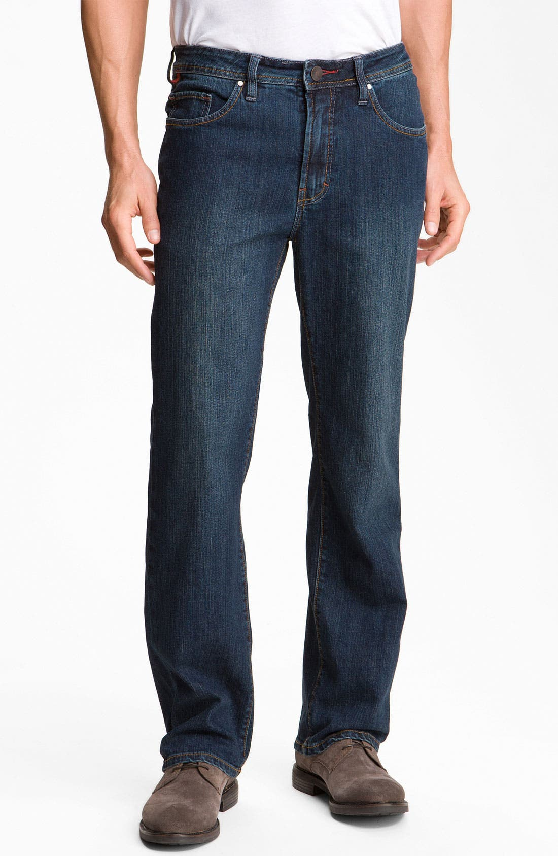 Main Image - Worn Jeans 'Octane' Straight Leg Jeans (Clean Dark)