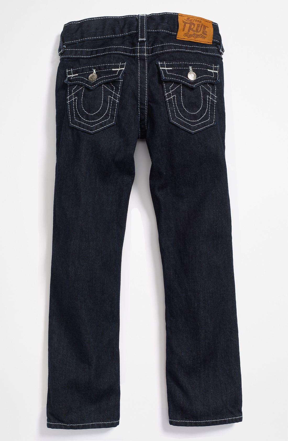 Alternate Image 1 Selected - True Religion Brand Jeans 'Jack' Straight Leg Jeans (Toddler)