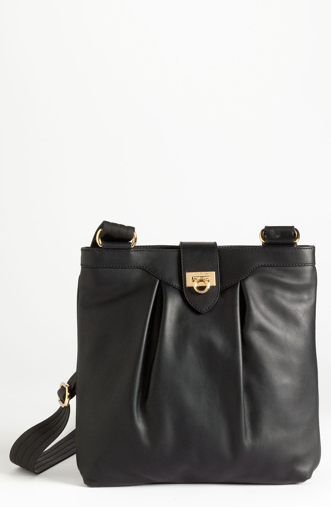 Alternate Image 1 Selected - Salvatore Ferragamo 'Graziella' Leather Crossbody Bag