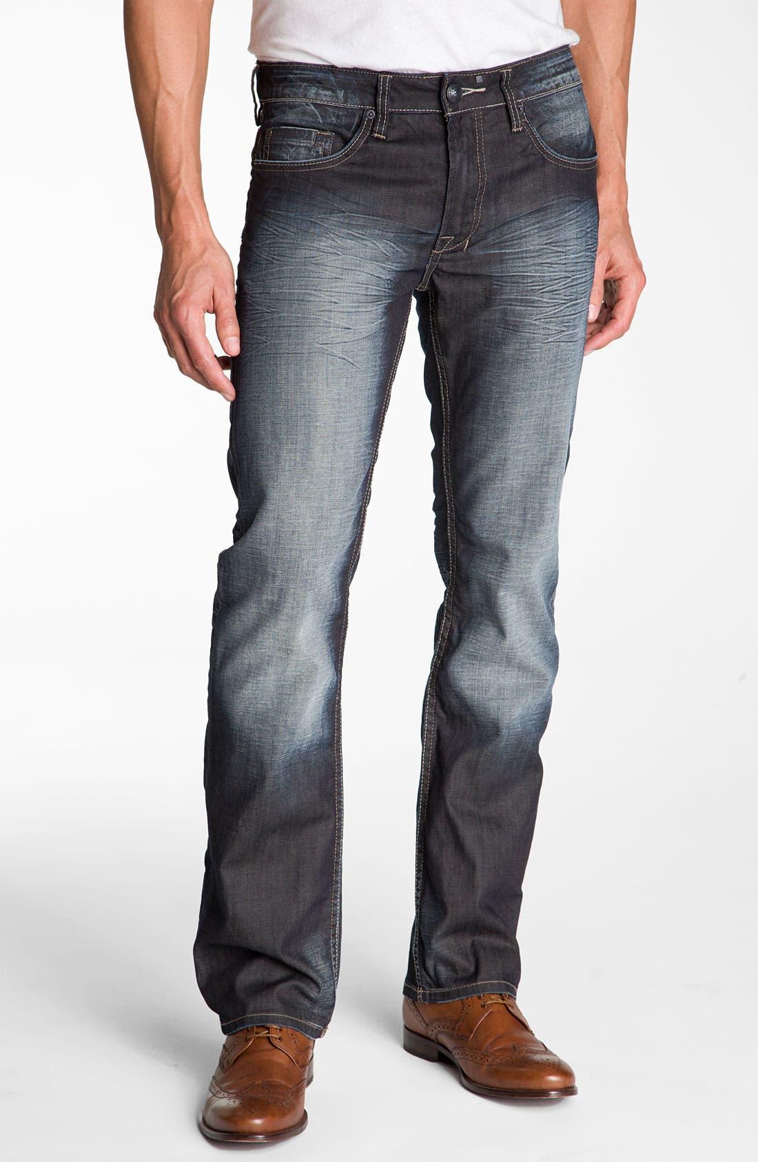 Alternate Image 1 Selected - Buffalo Jeans 'Six' Slim Straight Leg Jeans (Vintage Stone)