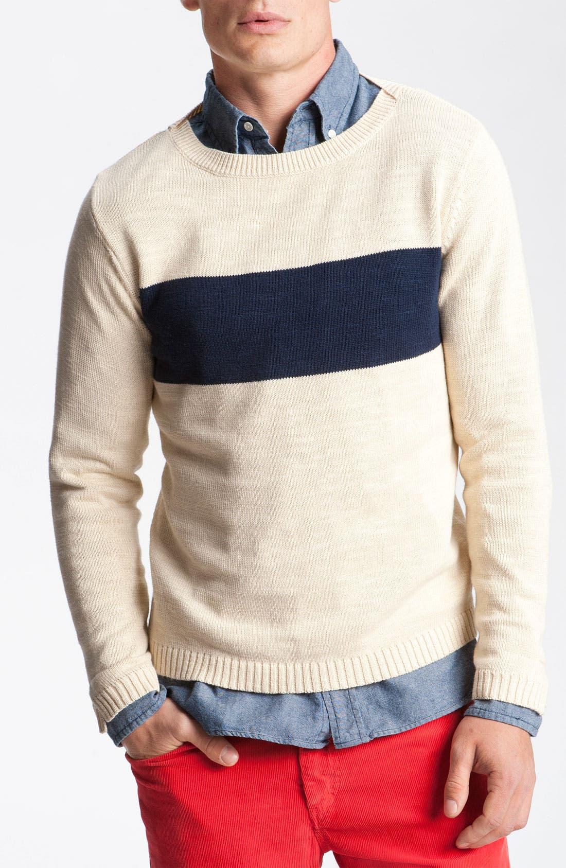Alternate Image 1 Selected - Gant Rugger Split Crewneck Sweater