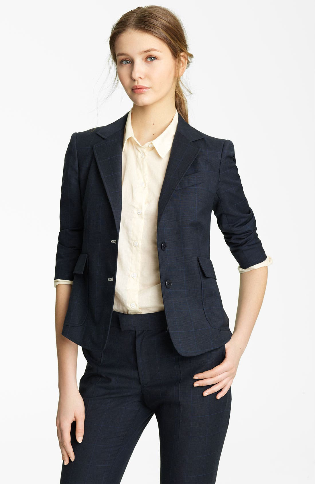 Alternate Image 1 Selected - Band of Outsiders 'Schoolboy' Stretch Wool Blazer