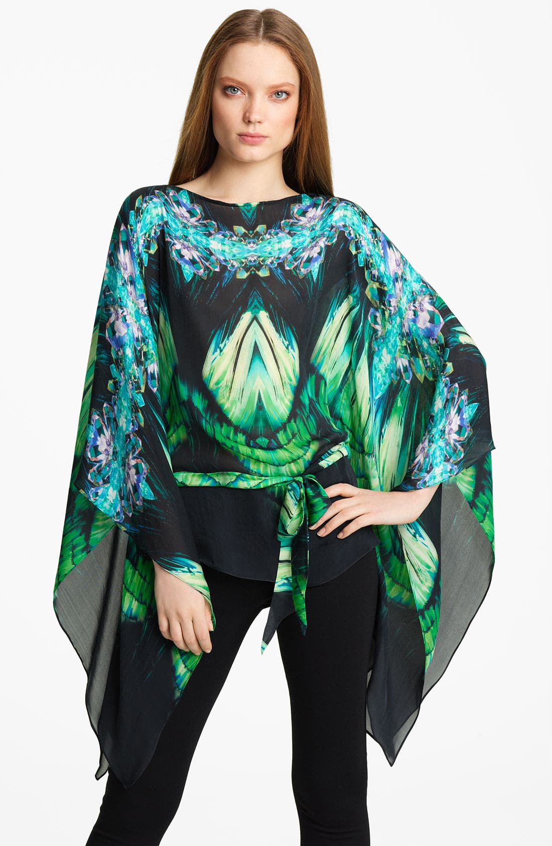 Alternate Image 1 Selected - Roberto Cavalli Geometric Print Chiffon Caftan
