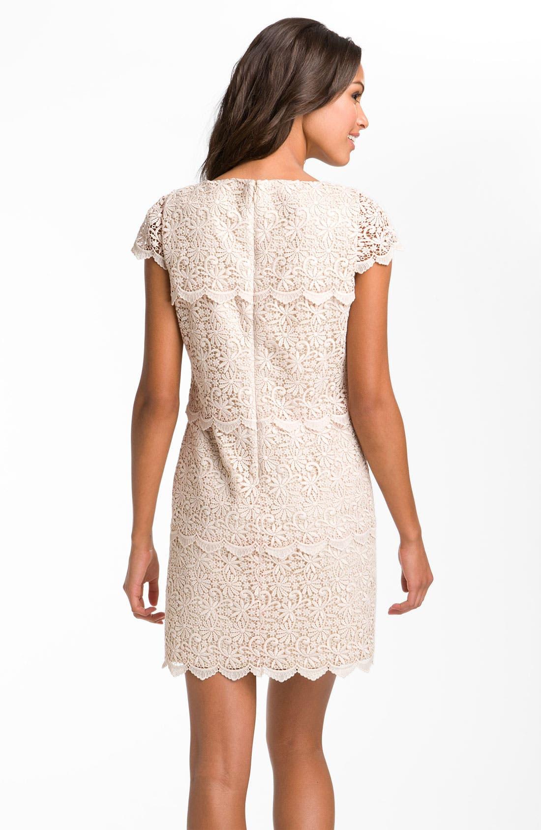 Alternate Image 2  - Eliza J Tiered Lace Overlay Shift Dress
