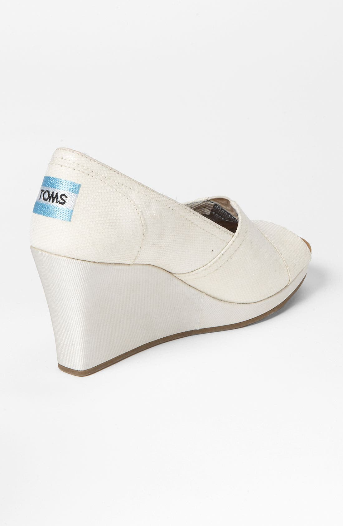 Alternate Image 2  - TOMS Glitter Grosgrain Wedge