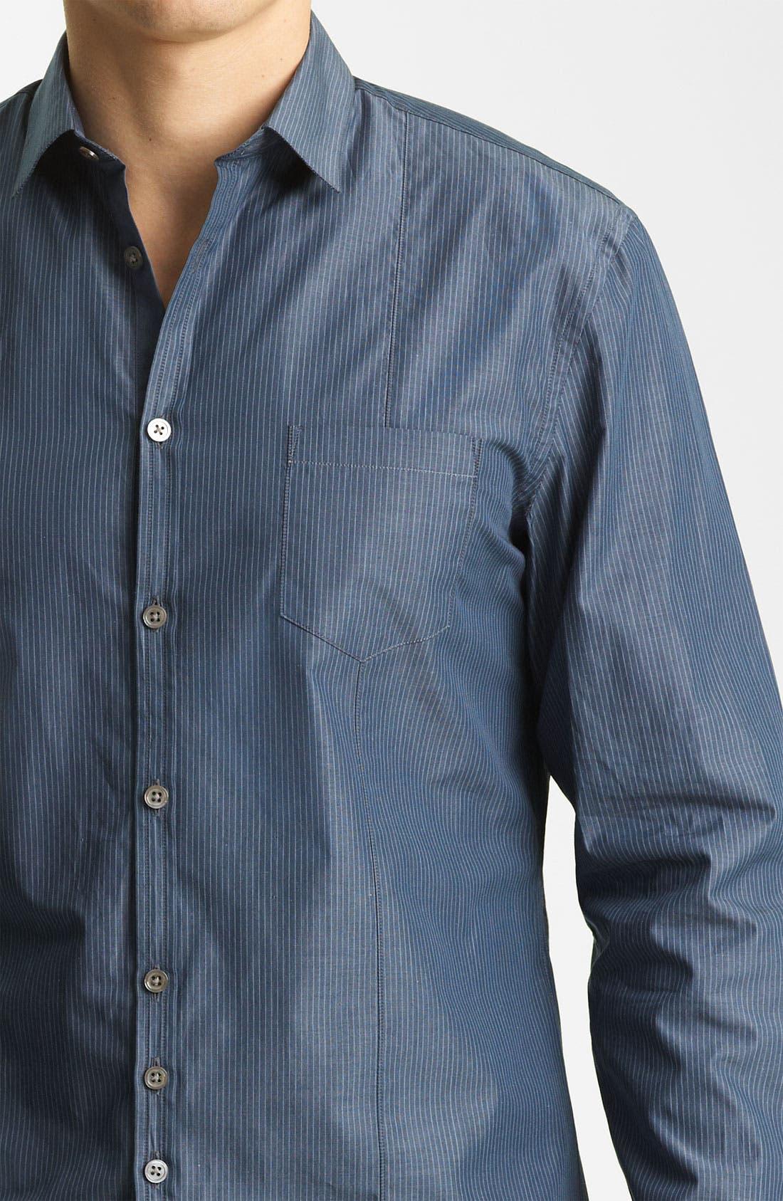 Alternate Image 3  - John Varvatos Collection Stripe Woven Shirt