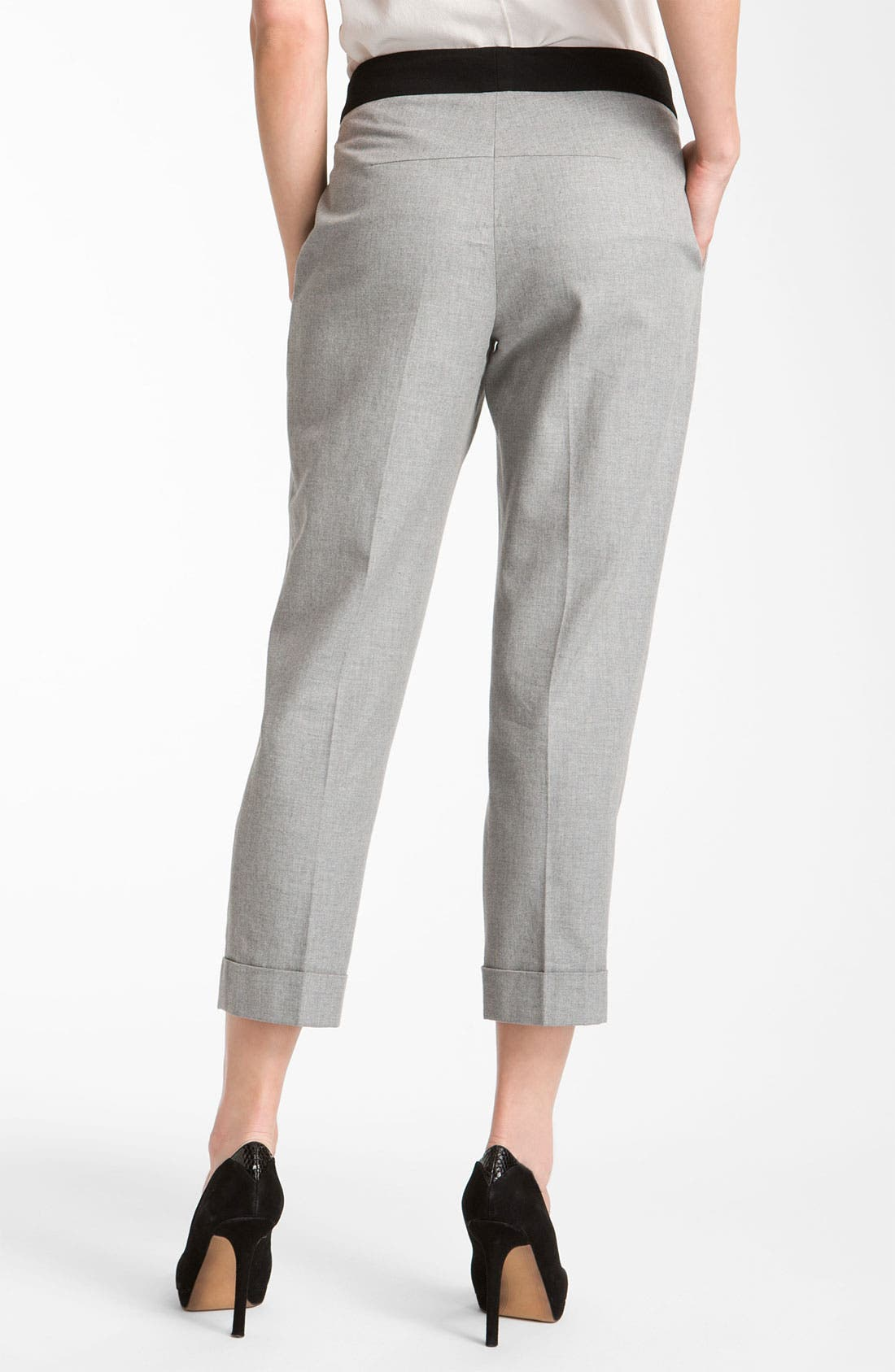 Alternate Image 2  - Rachel Roy Cropped Flannel Pants