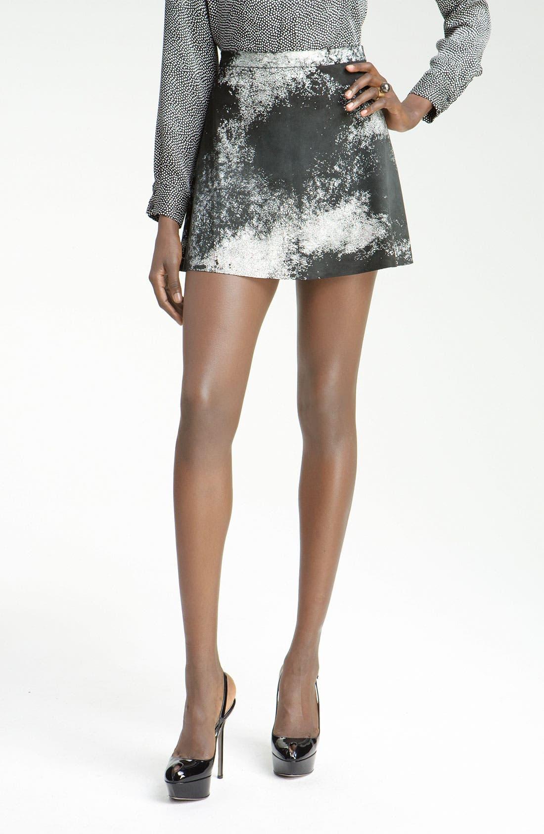 Alternate Image 1 Selected - Kelly Wearstler 'Swagger' Print Leather Skirt