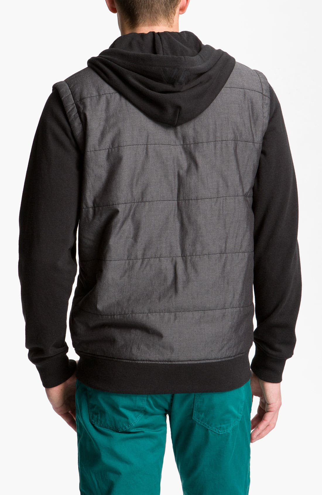 Alternate Image 2  - RVCA Puffer Vest Hooded Jacket