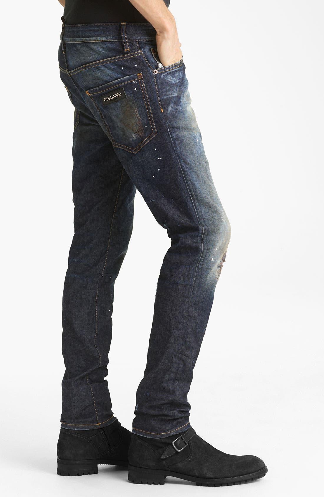 Alternate Image 3  - Dsquared2 'Cool Guy' Slim Fit Jeans (Blue Wash)