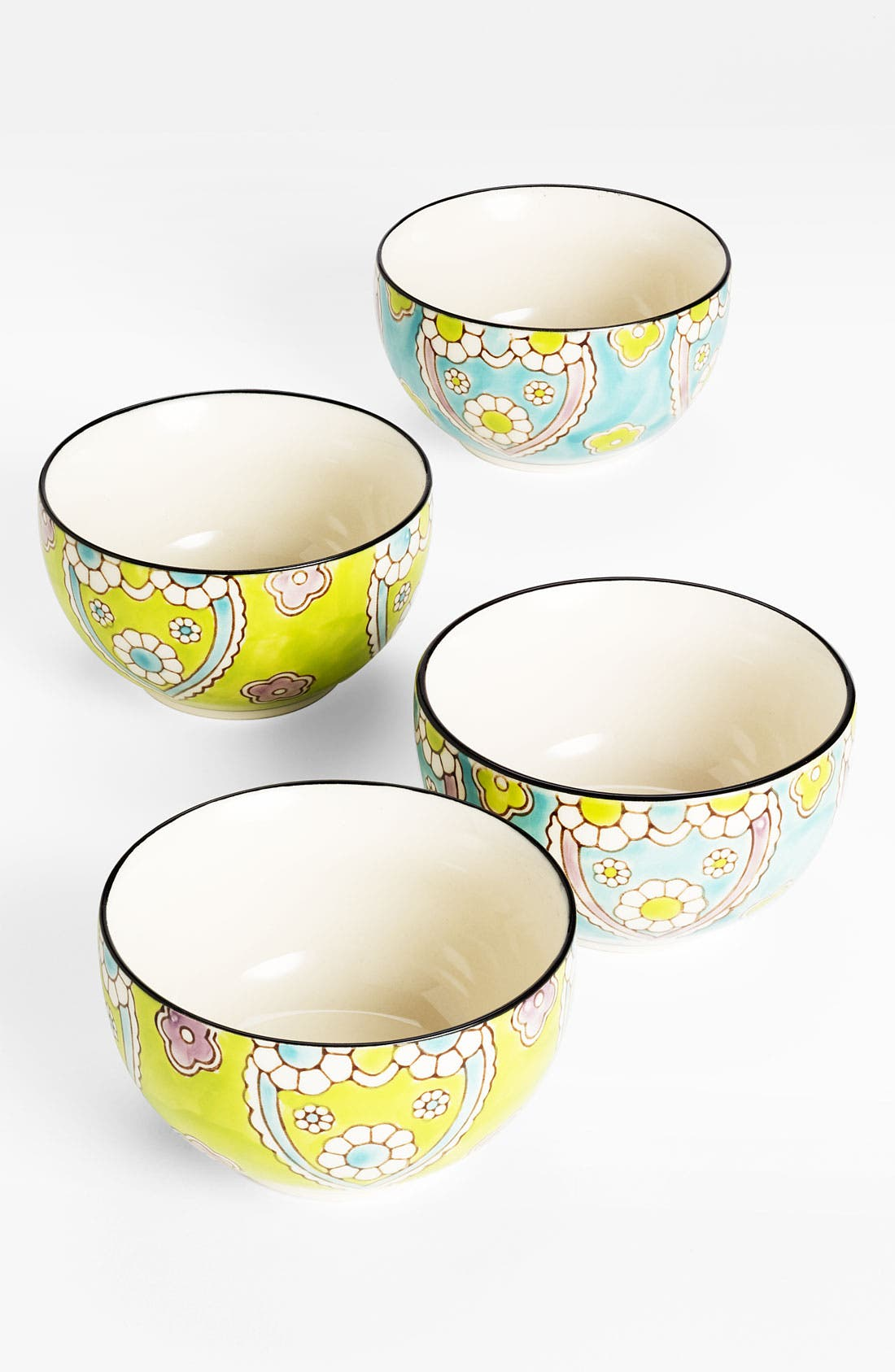 Alternate Image 1 Selected - Hand-Painted 'Lotus' Bowls (Set of 4)