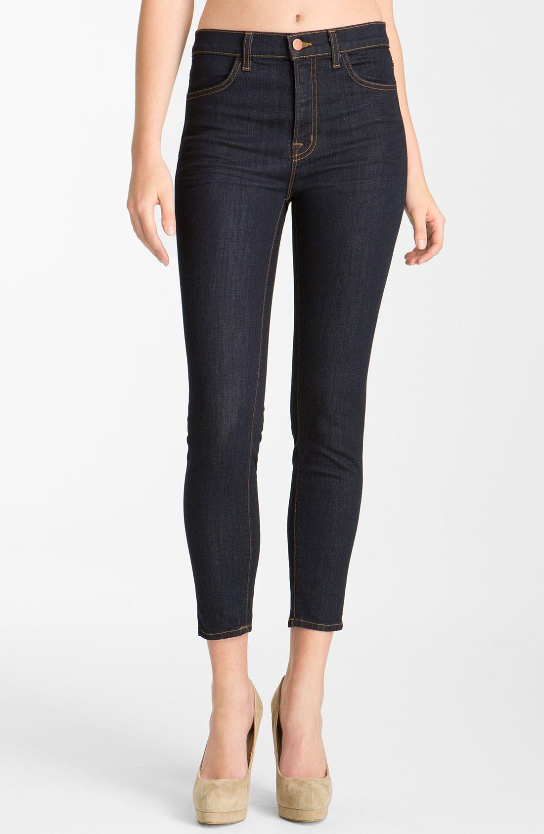 Alternate Image 1 Selected - J Brand 'Maria' Crop Skinny Stretch Jeans (Starless)