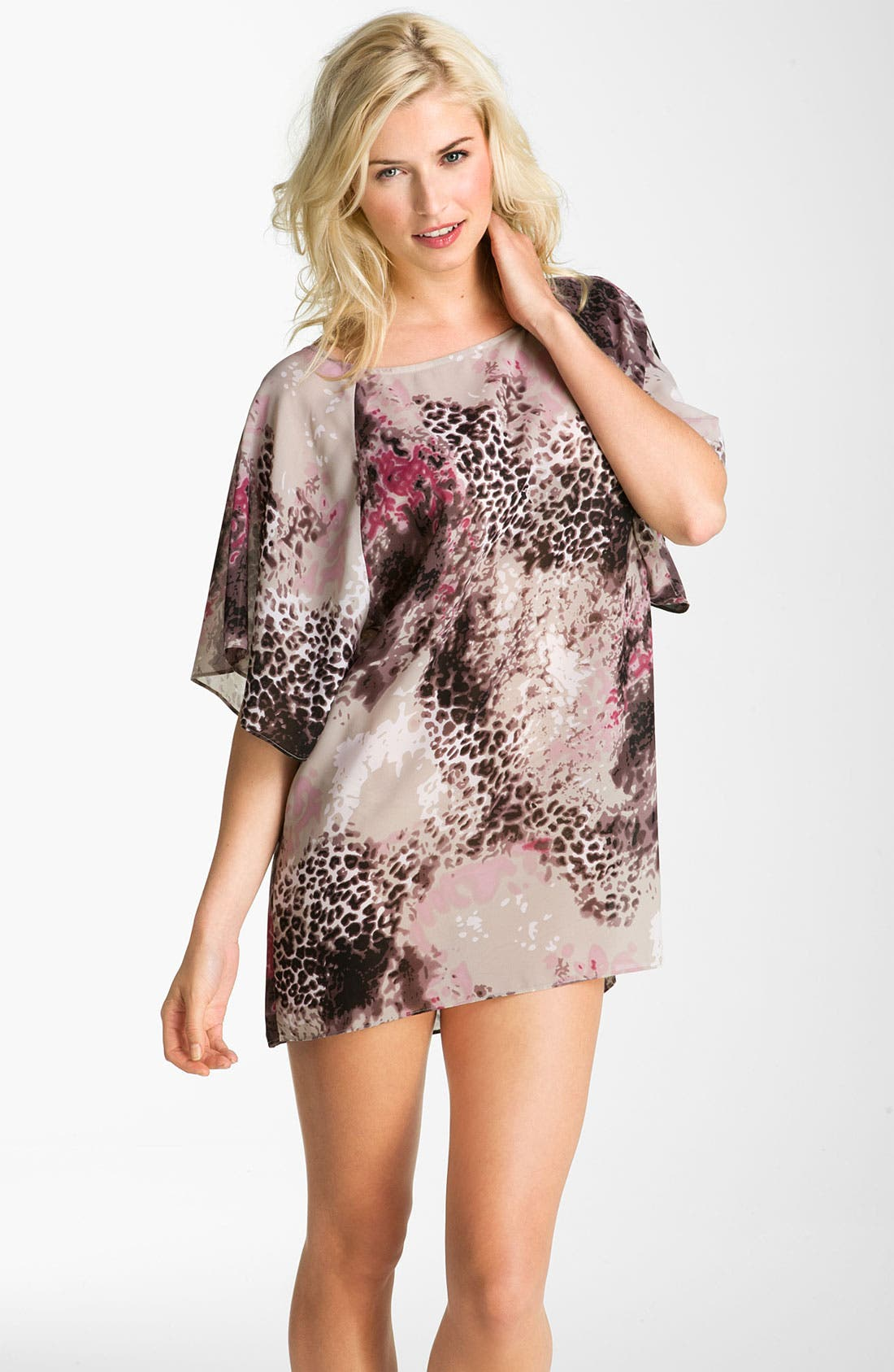 Alternate Image 1 Selected - Halogen® Dolman Sleeve Tunic Cover-Up