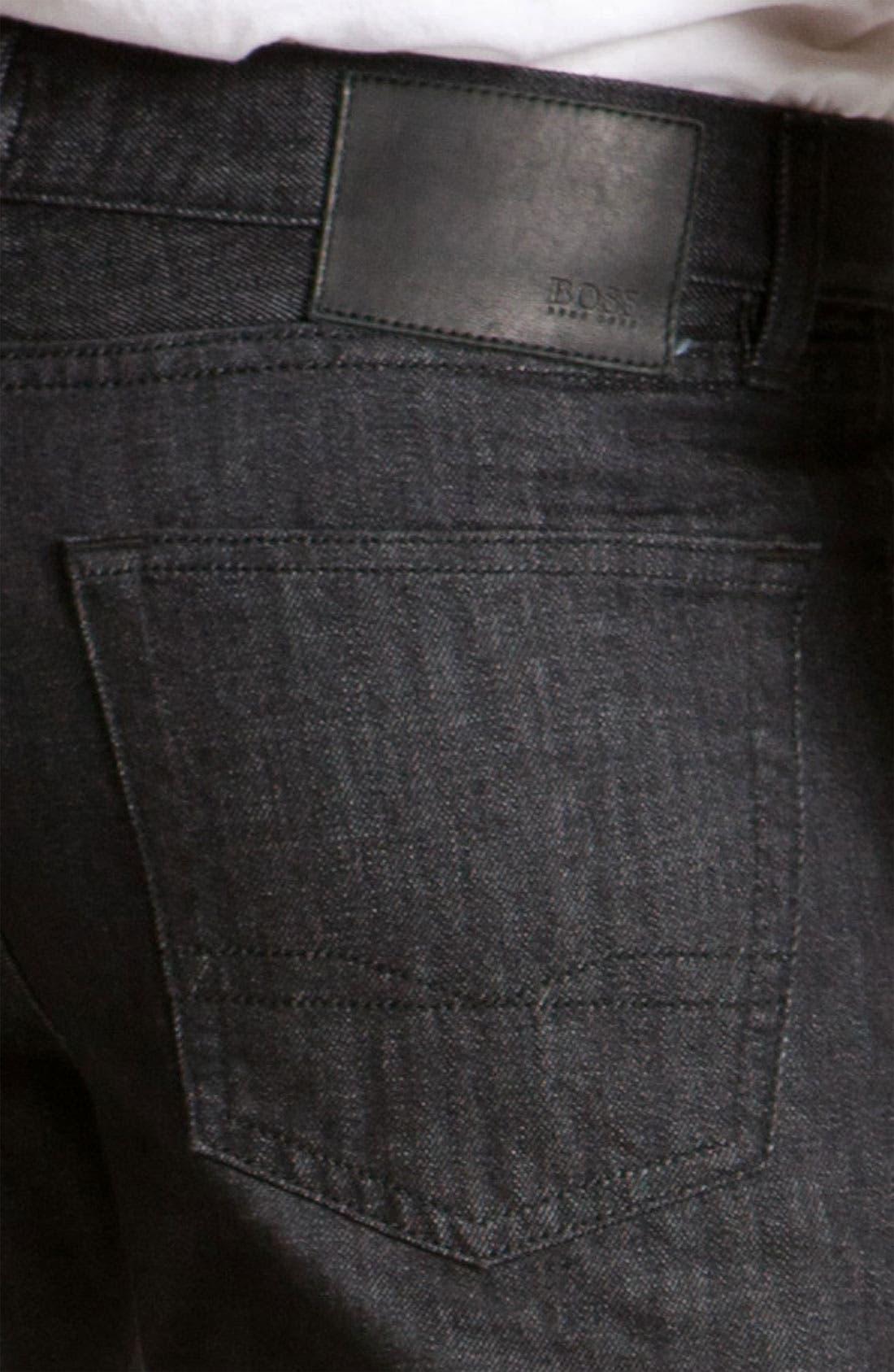 Alternate Image 4  - BOSS Black 'Texas' Bootcut Jeans (Black)