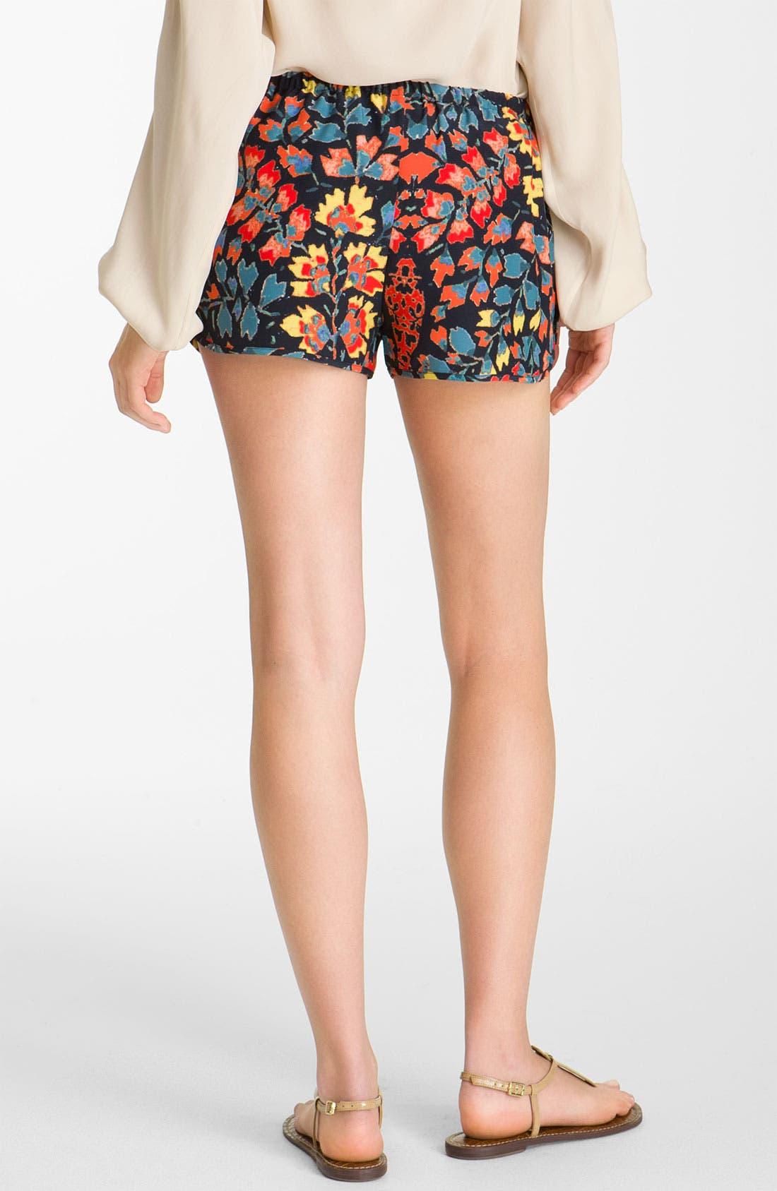 Alternate Image 2  - Haute Hippie Print Drawstring Silk Shorts