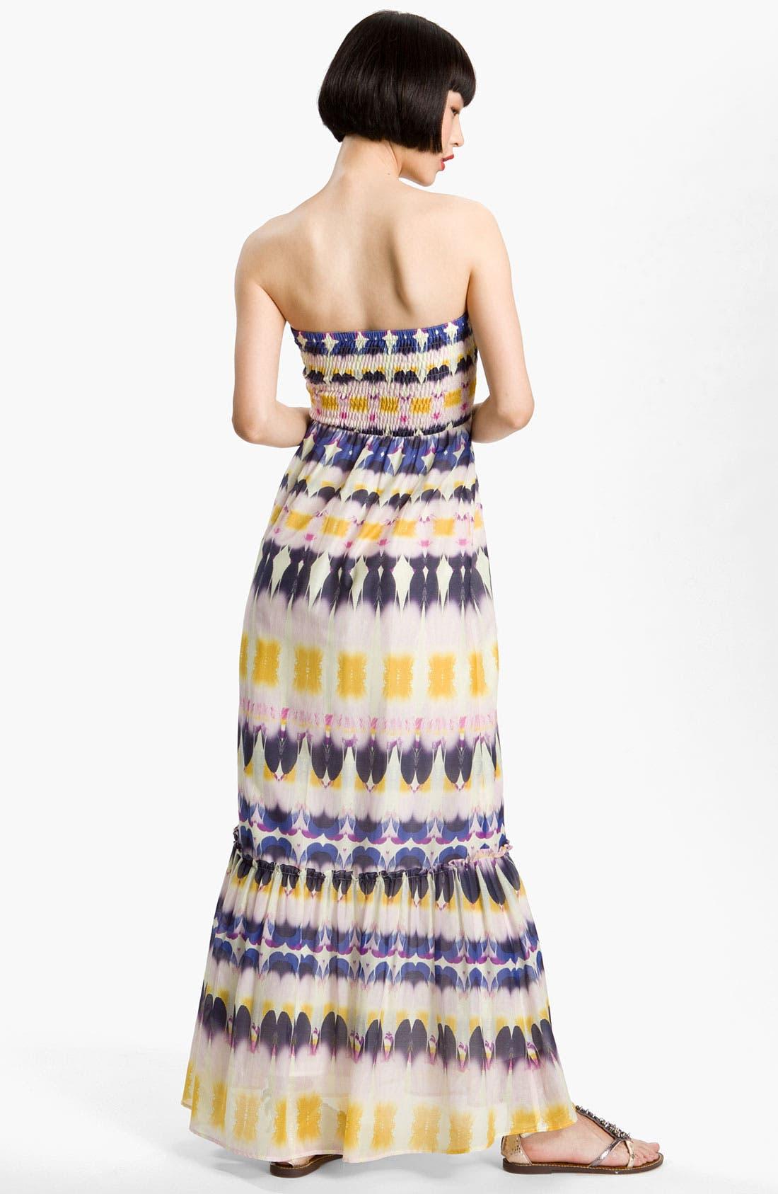 Alternate Image 2  - Presley Skye Smocked Bodice Print Maxi Dress