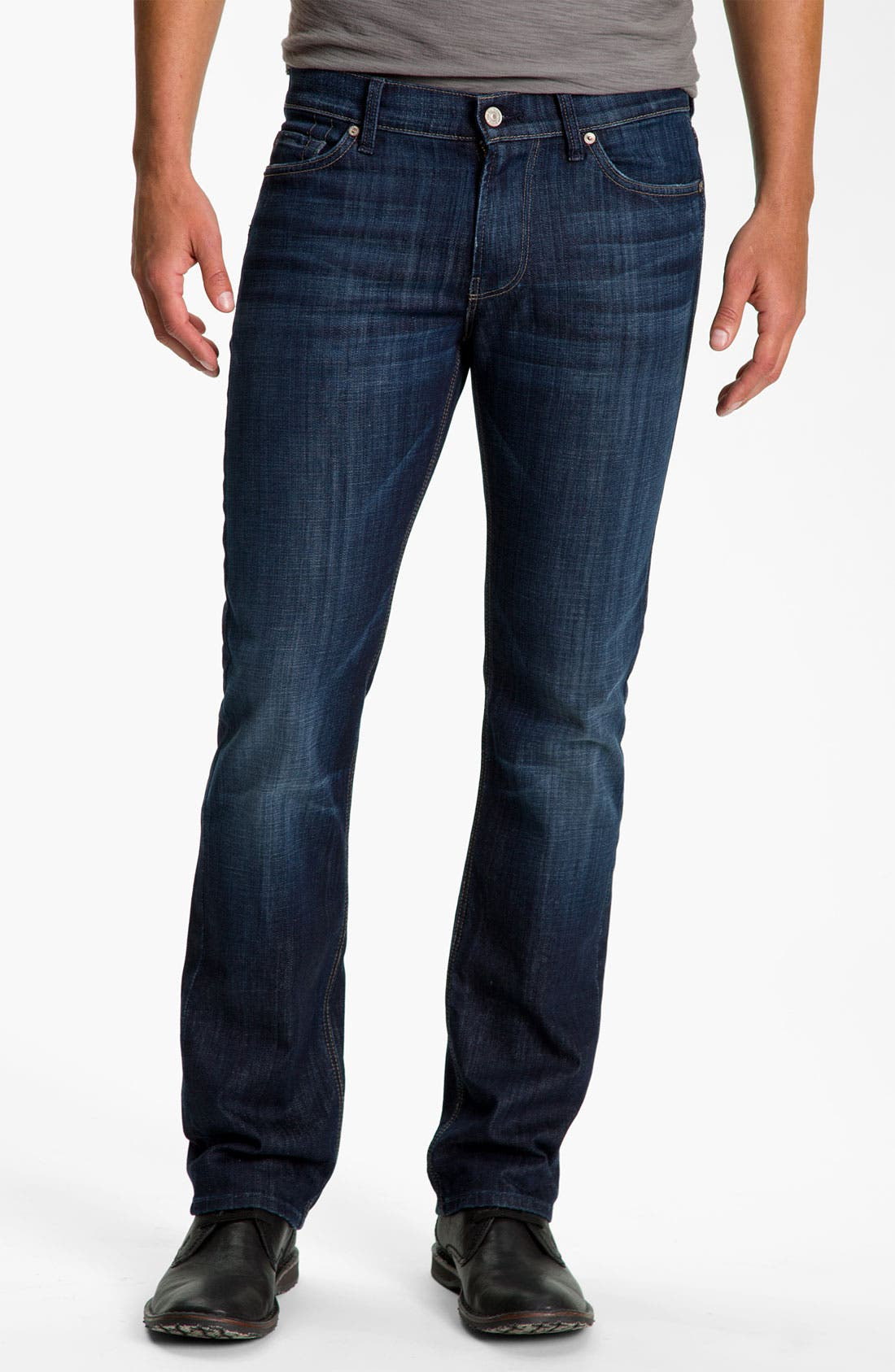 Main Image - 7 For All Mankind® Slimmy Slim Fit Jeans (Los Angeles Dark)