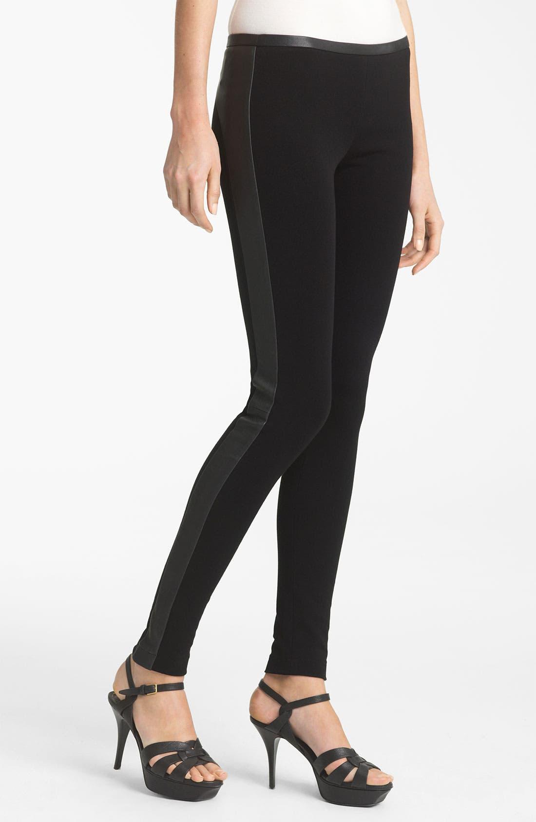 Alternate Image 1 Selected - Emilio Pucci Leather Trim Leggings
