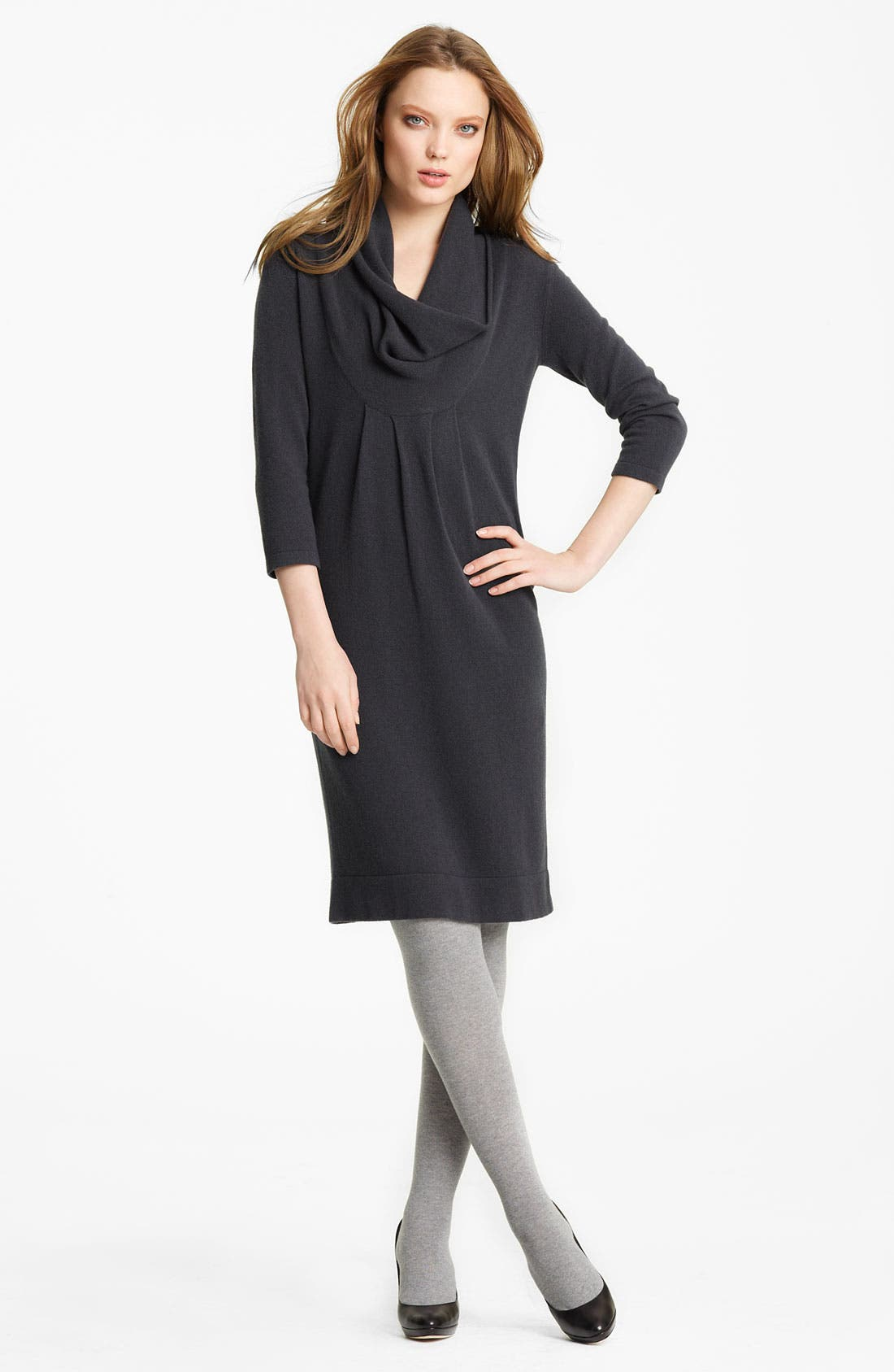 Main Image - Fabiana Filippi Cowl Neck Knit Dress
