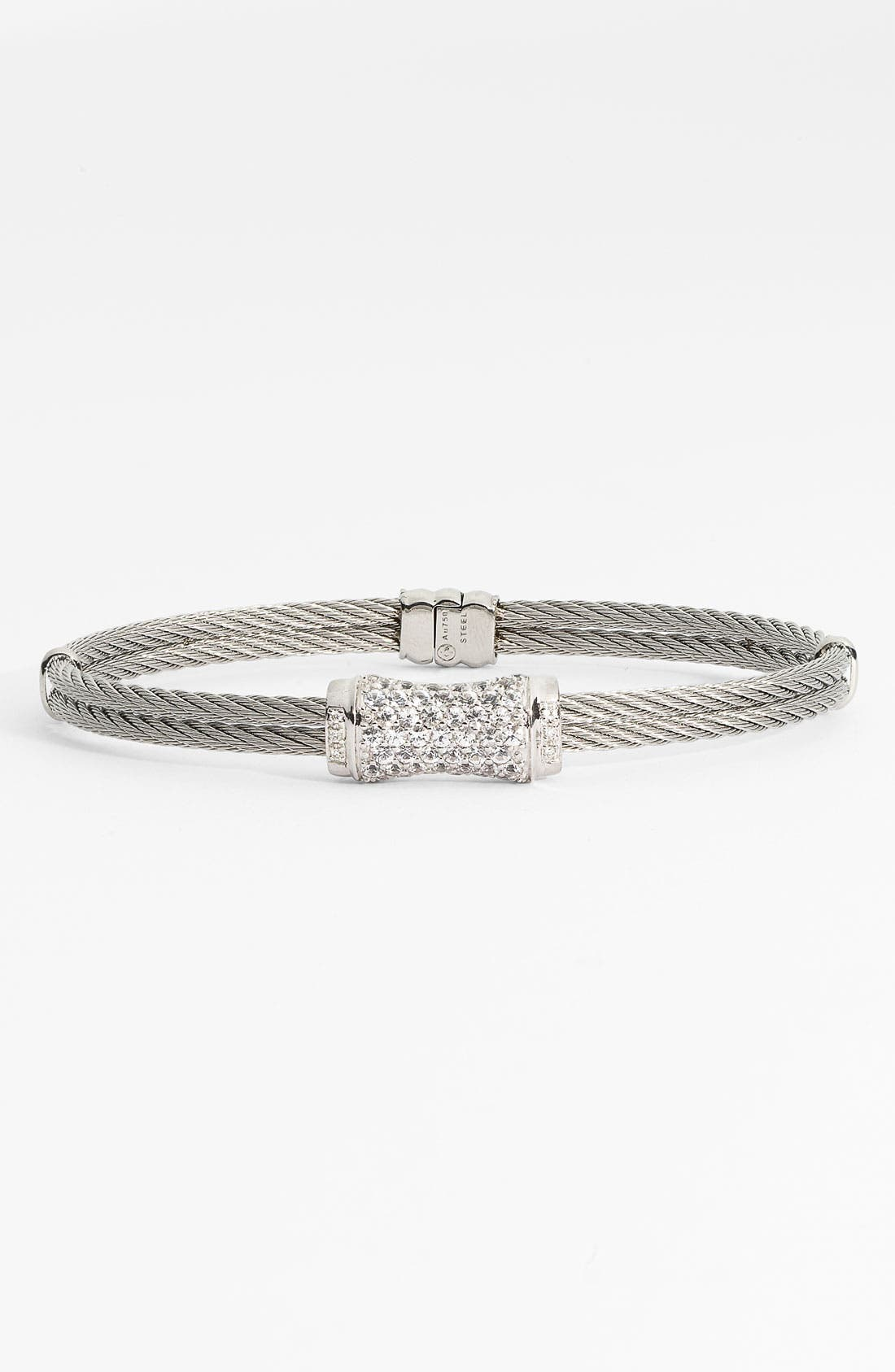 Main Image - ALOR® White Sapphire Station Cable Bangle (Nordstrom Exclusive)