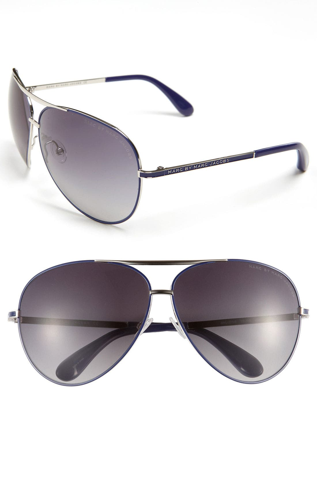 Main Image - MARC BY MARC JACOBS 63mm Aviator Sunglasses