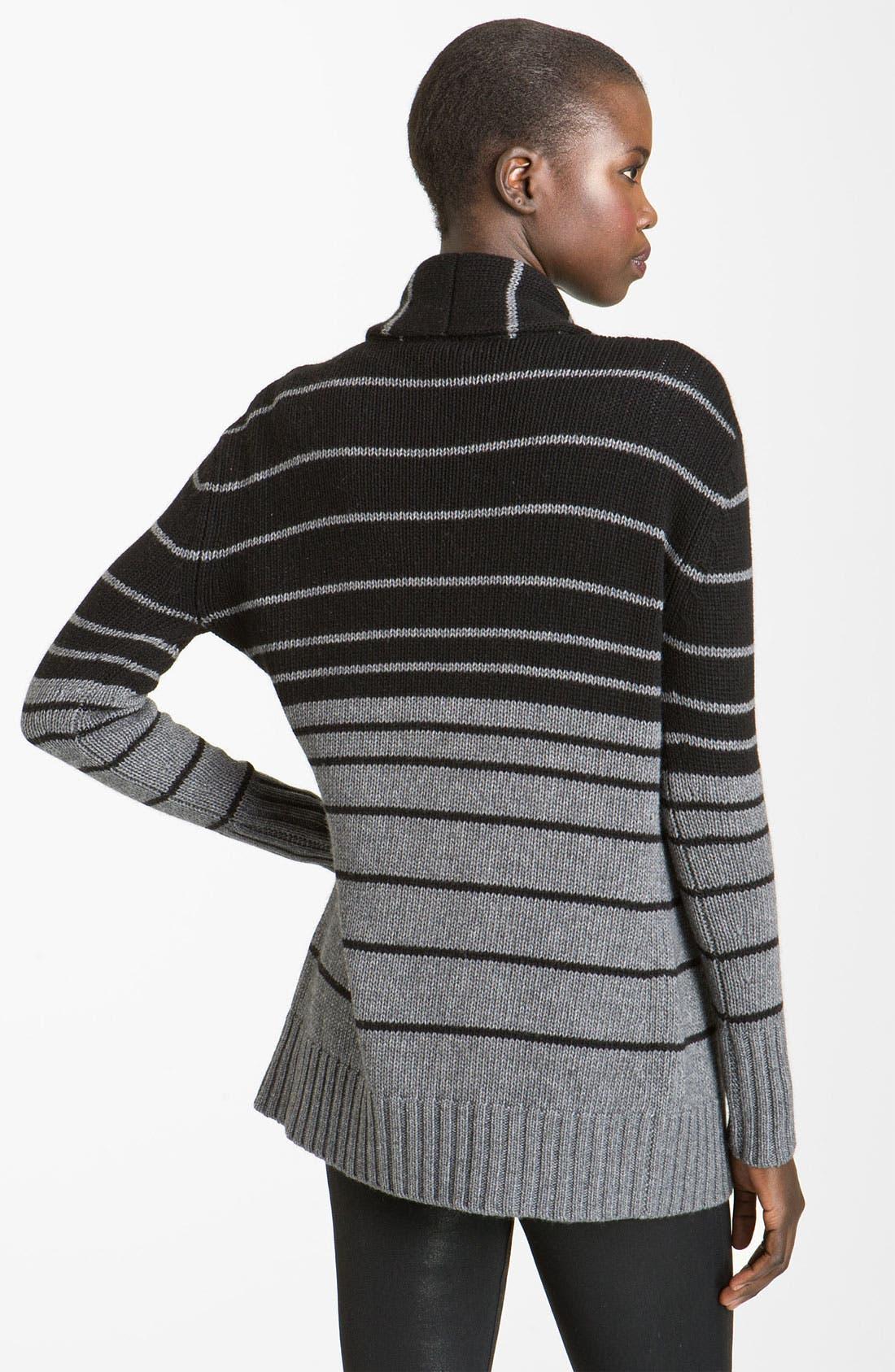 Alternate Image 2  - autumn cashmere Ombré Stripe Cardigan