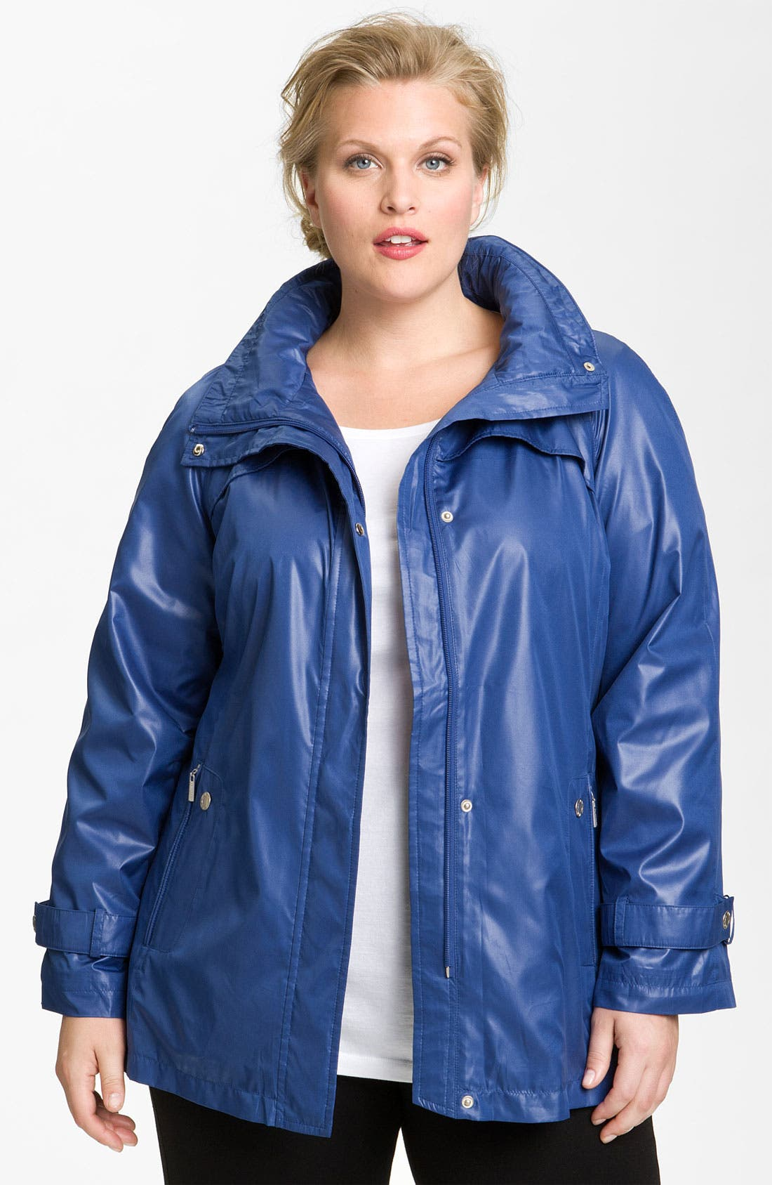 Alternate Image 1 Selected - Platinum Utex Ultra Lightweight Water Repellent Jacket (Plus)