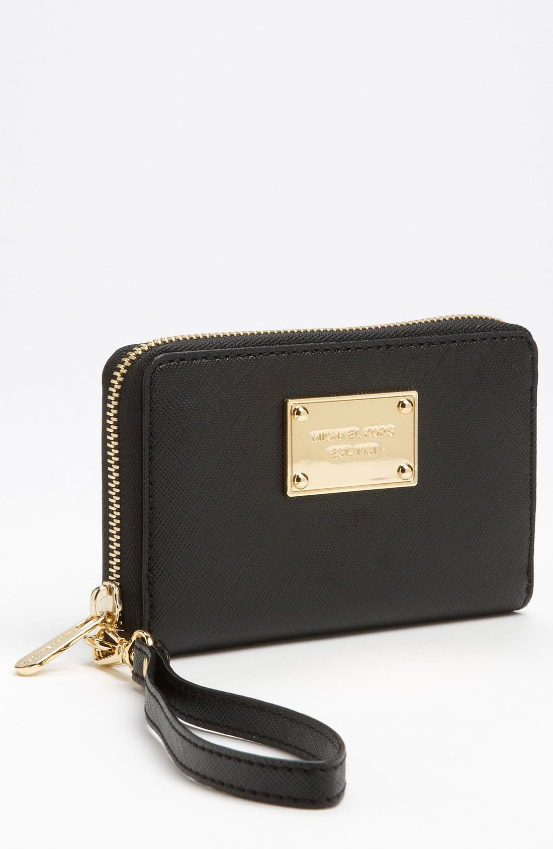 Alternate Image 1 Selected - MICHAEL Michael Kors Saffiano Phone Wristlet
