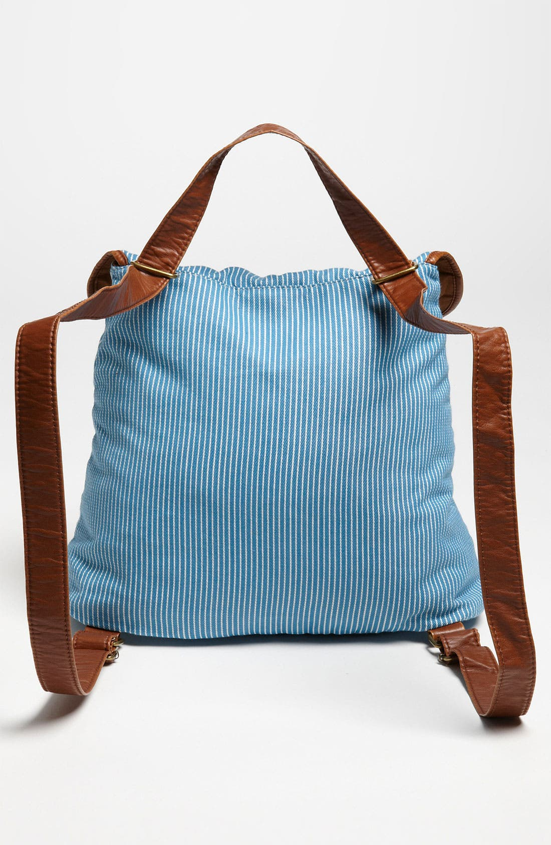 Alternate Image 4  - BP. Stripe Chambray & Faux Leather Backpack