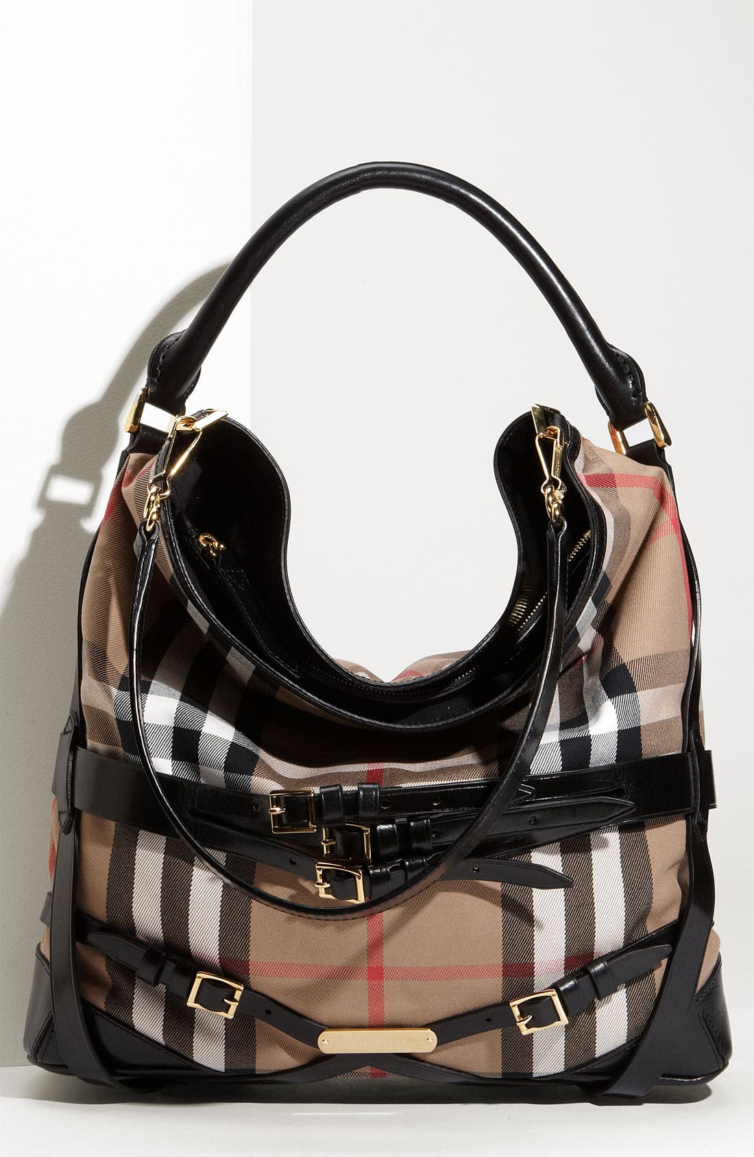 Alternate Image 1 Selected - Burberry 'House Check' Hobo, Large