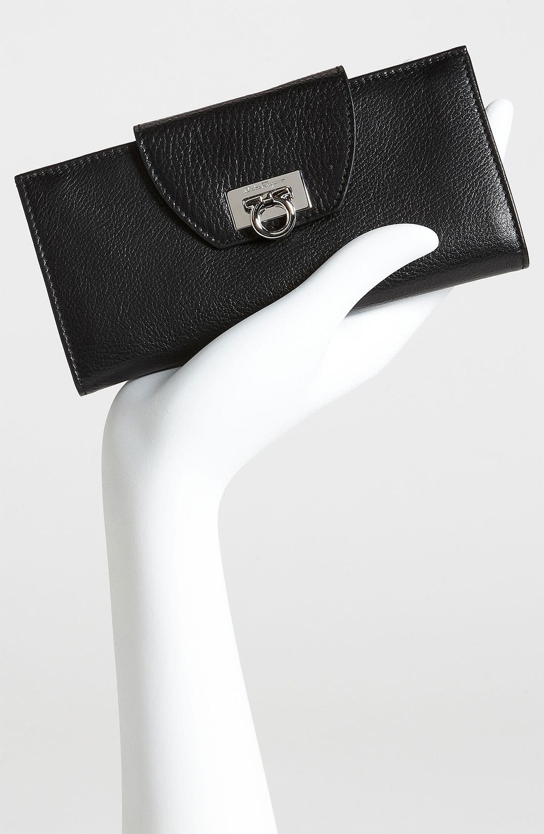 Alternate Image 4  - Salvatore Ferragamo 'Vitello Safari' Continental Leather Wallet