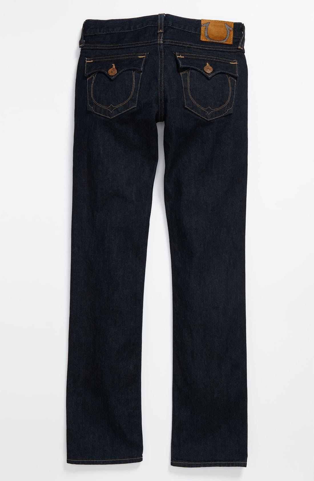 Alternate Image 1 Selected - True Religion Brand Jeans 'Jack Snake Eyes' Straight Leg Jeans (Big Boys)