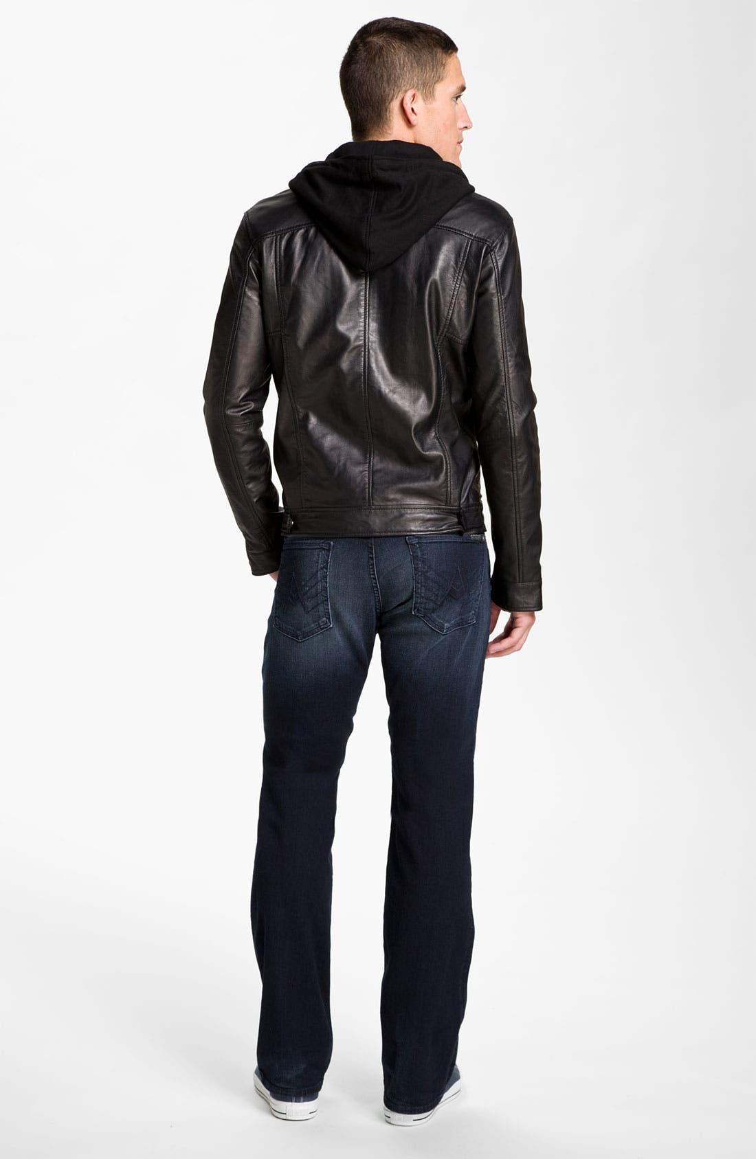 Alternate Image 7  - 7 Diamonds 'Manila' Trim Fit Leather Jacket
