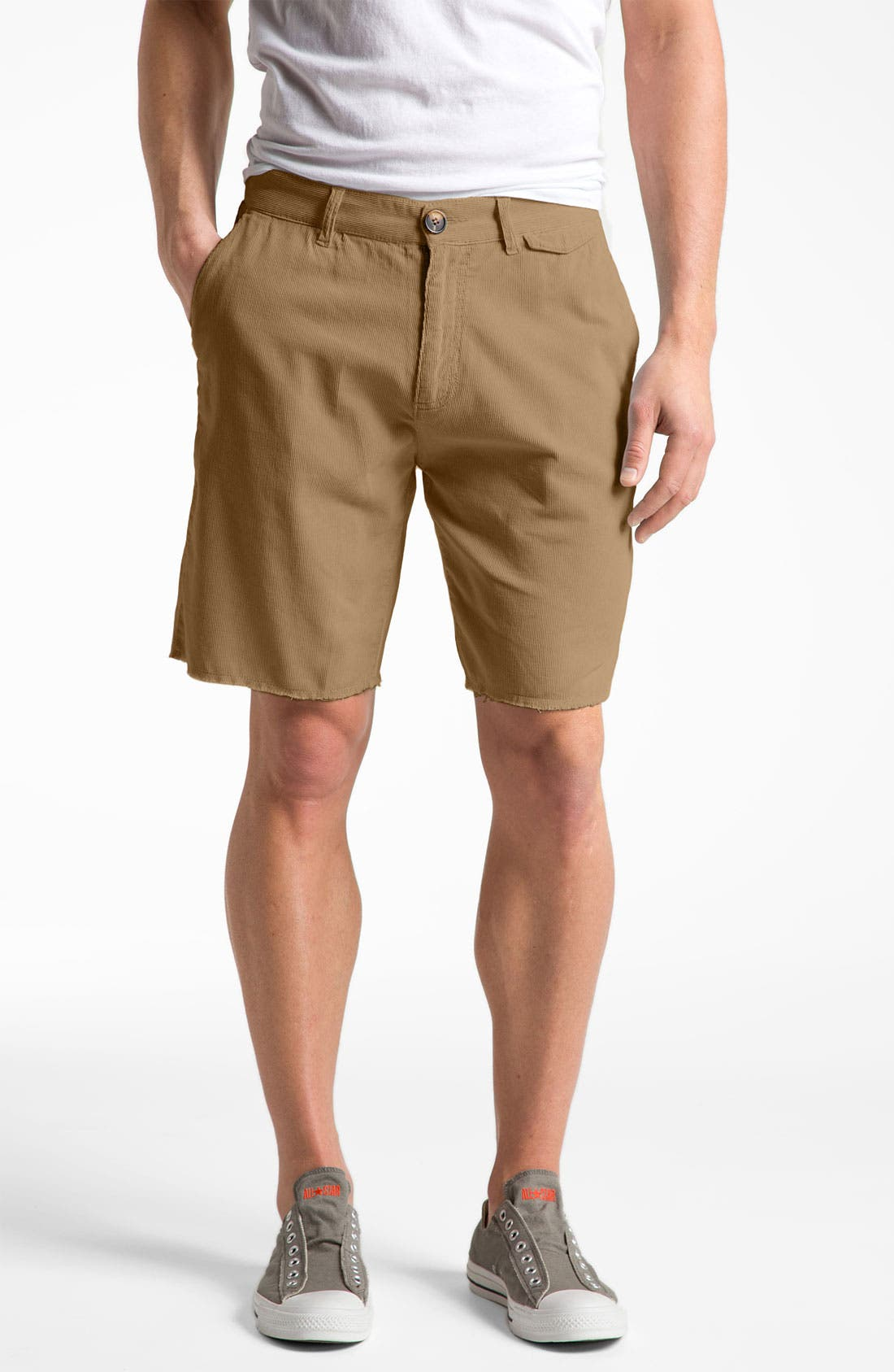 Alternate Image 1 Selected - Threads for Thought Cut Off Corduroy Shorts
