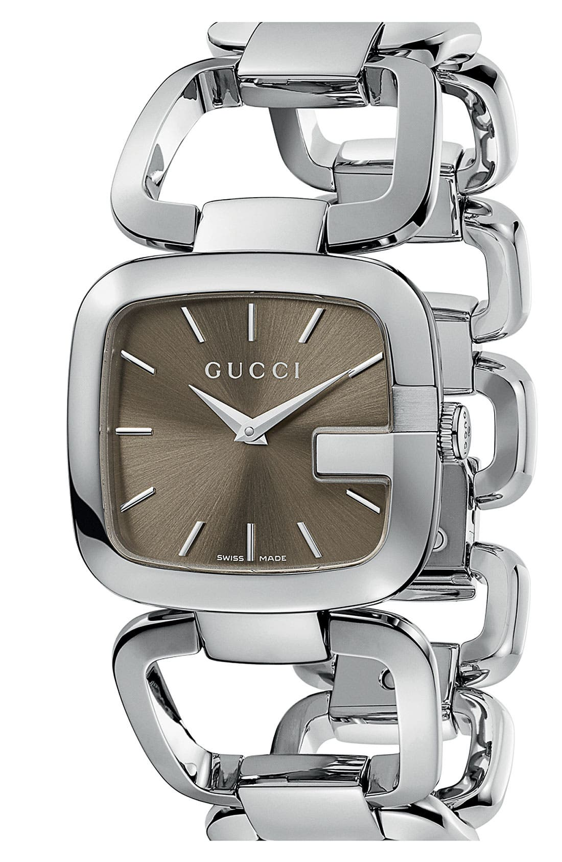 Alternate Image 1 Selected - Gucci 'G-Gucci' Bracelet Watch, 32mm x 30mm