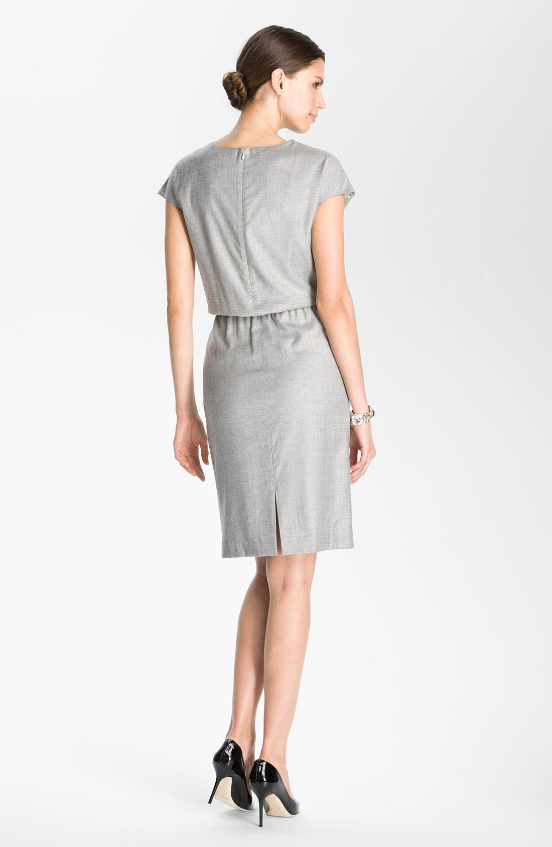 Alternate Image 2  - St. John Collection Blouson Waist Flannel Dress