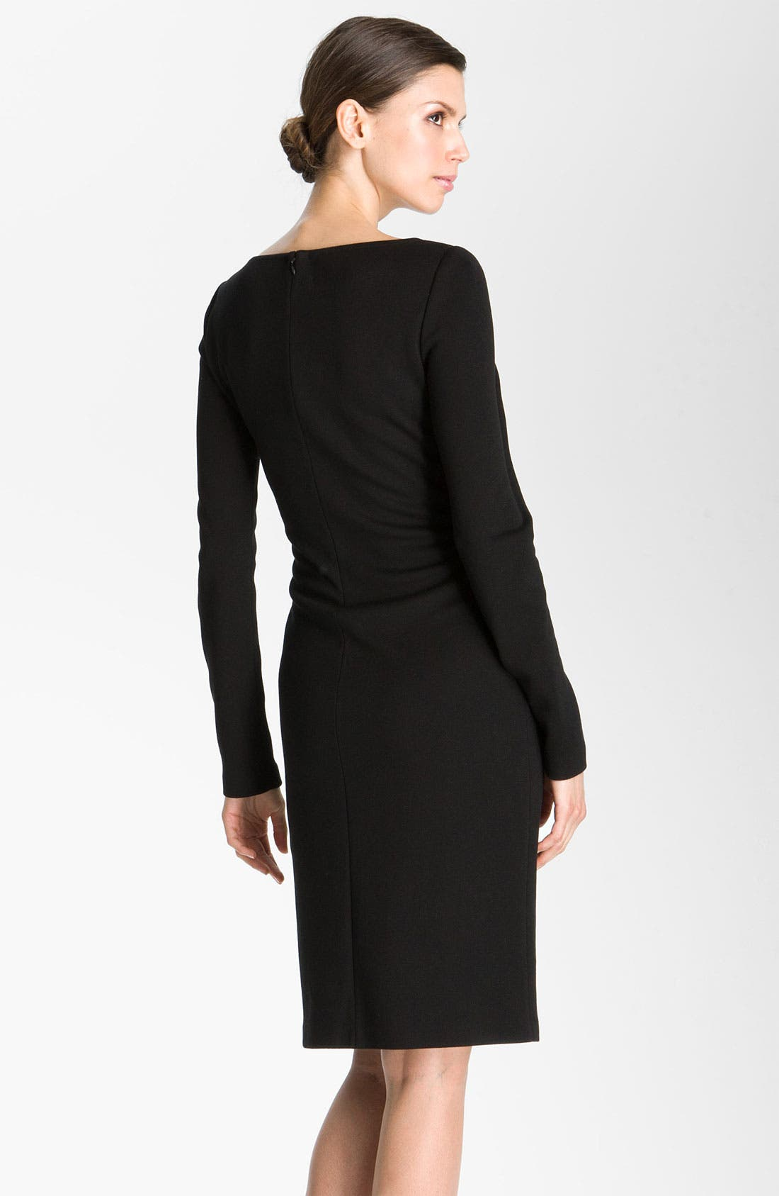 Alternate Image 2  - St. John Collection Milano Knit Faux Wrap Dress