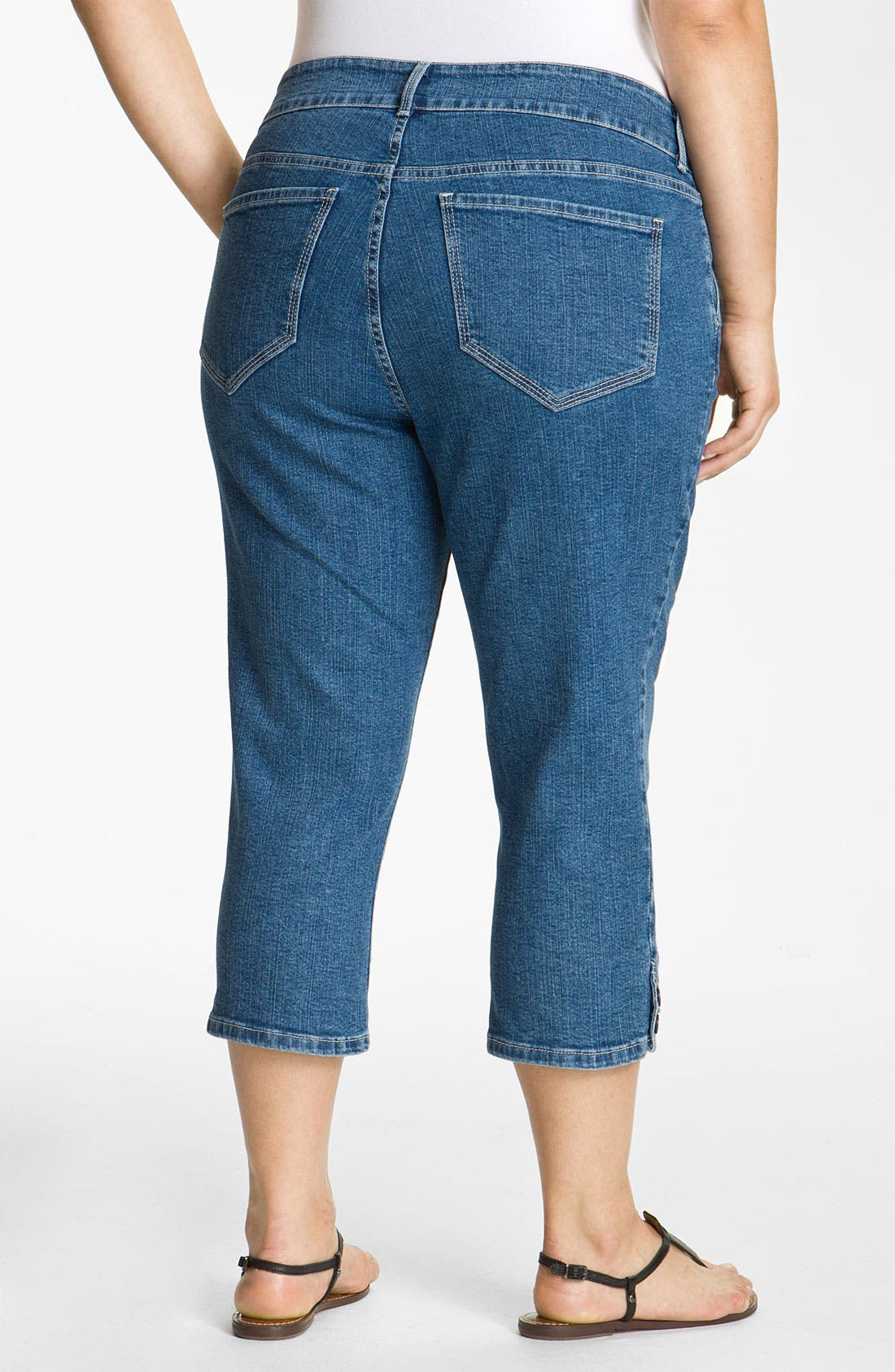 Alternate Image 2  - NYDJ 'Sammie' Crop Stretch Jeans (Plus)