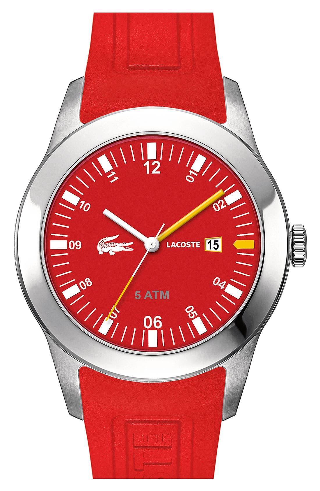 Main Image - Lacoste 'Advantage' Silicone Strap Watch, 42mm