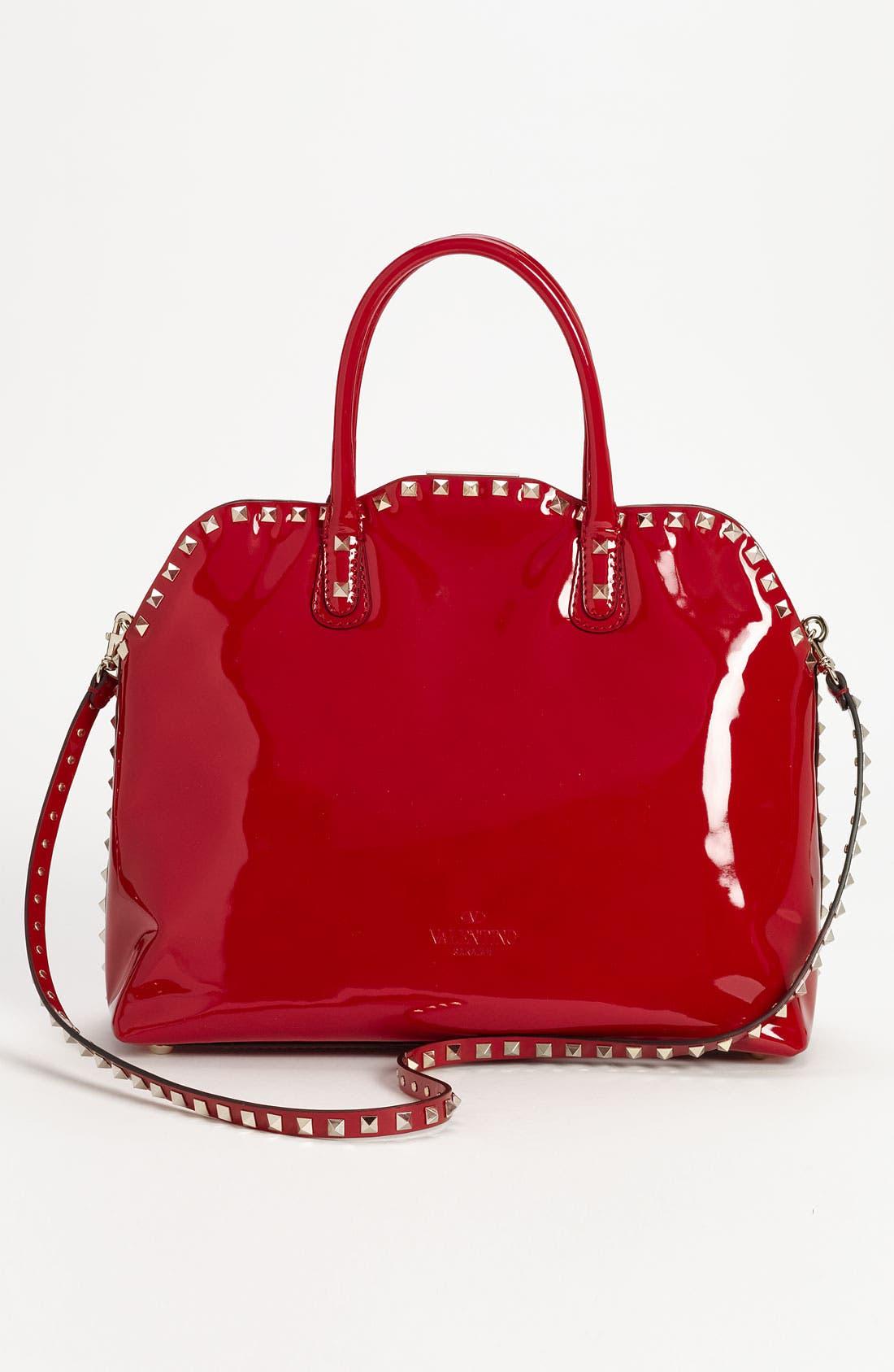 Alternate Image 4  - Valentino 'Rockstud' Patent Leather Dome Handbag