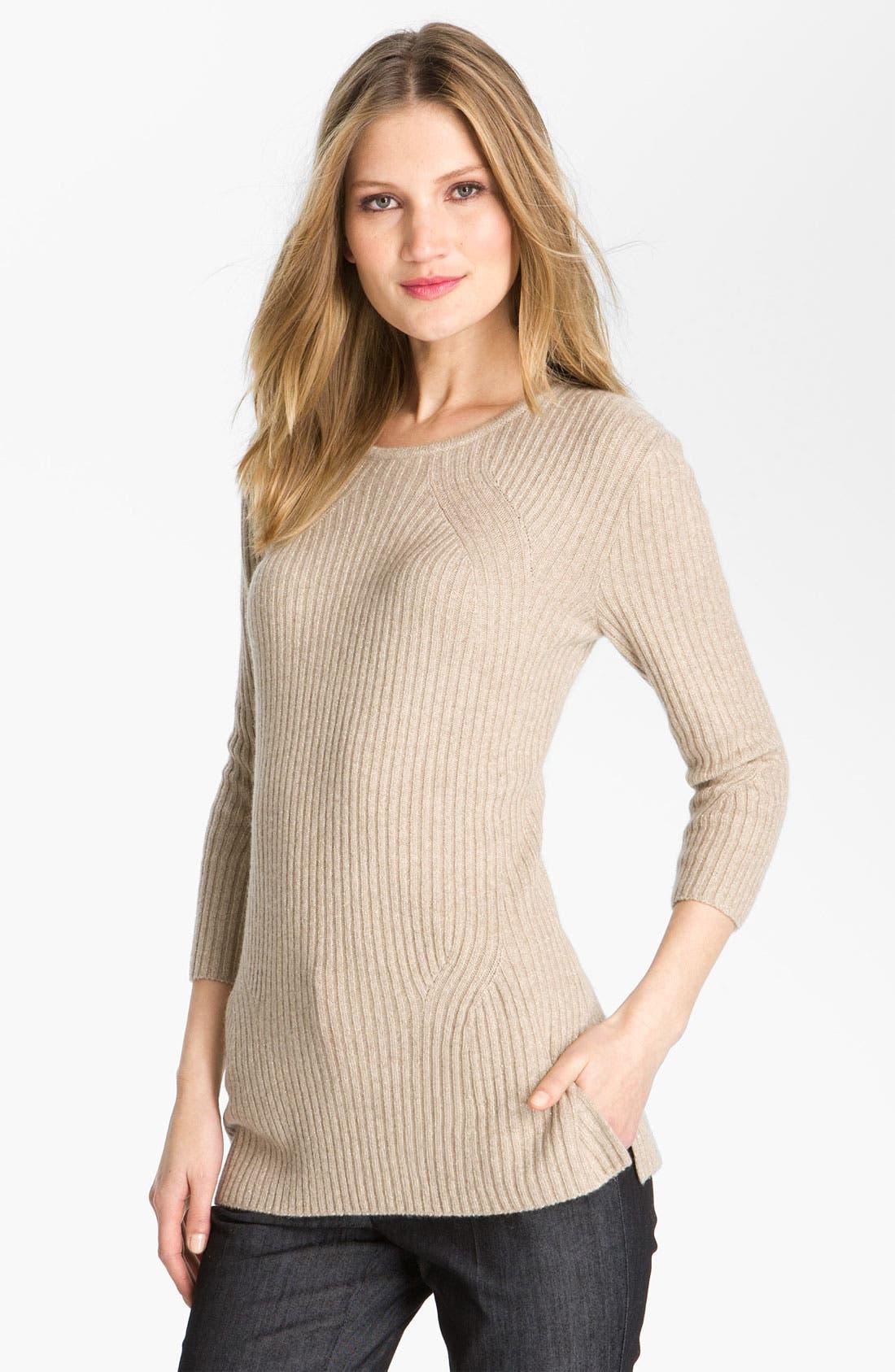 Main Image - St. John Yellow Label Sparkle Rib Knit Sweater