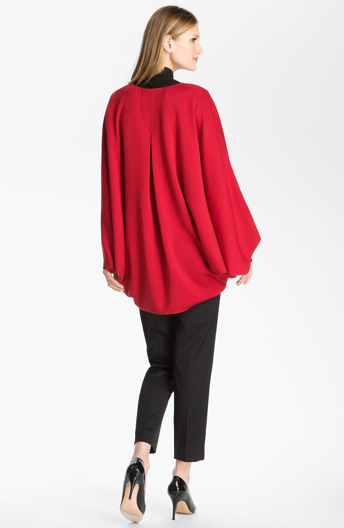 Alternate Image 3  - St. John Collection V-Neck Milano Knit Poncho