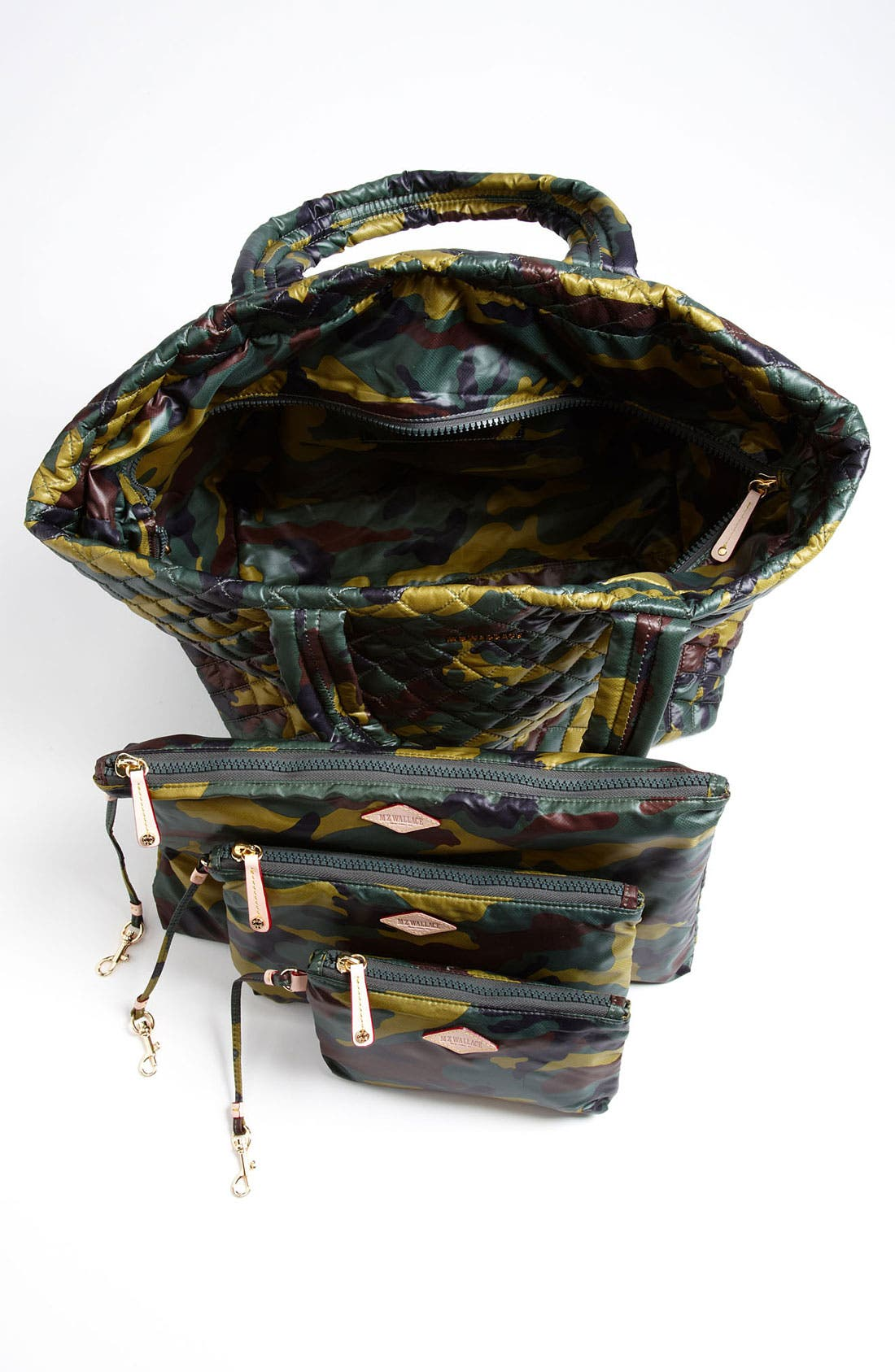 Large Metro Tote,                             Alternate thumbnail 3, color,                             Quilted Camo Oxford Nylon