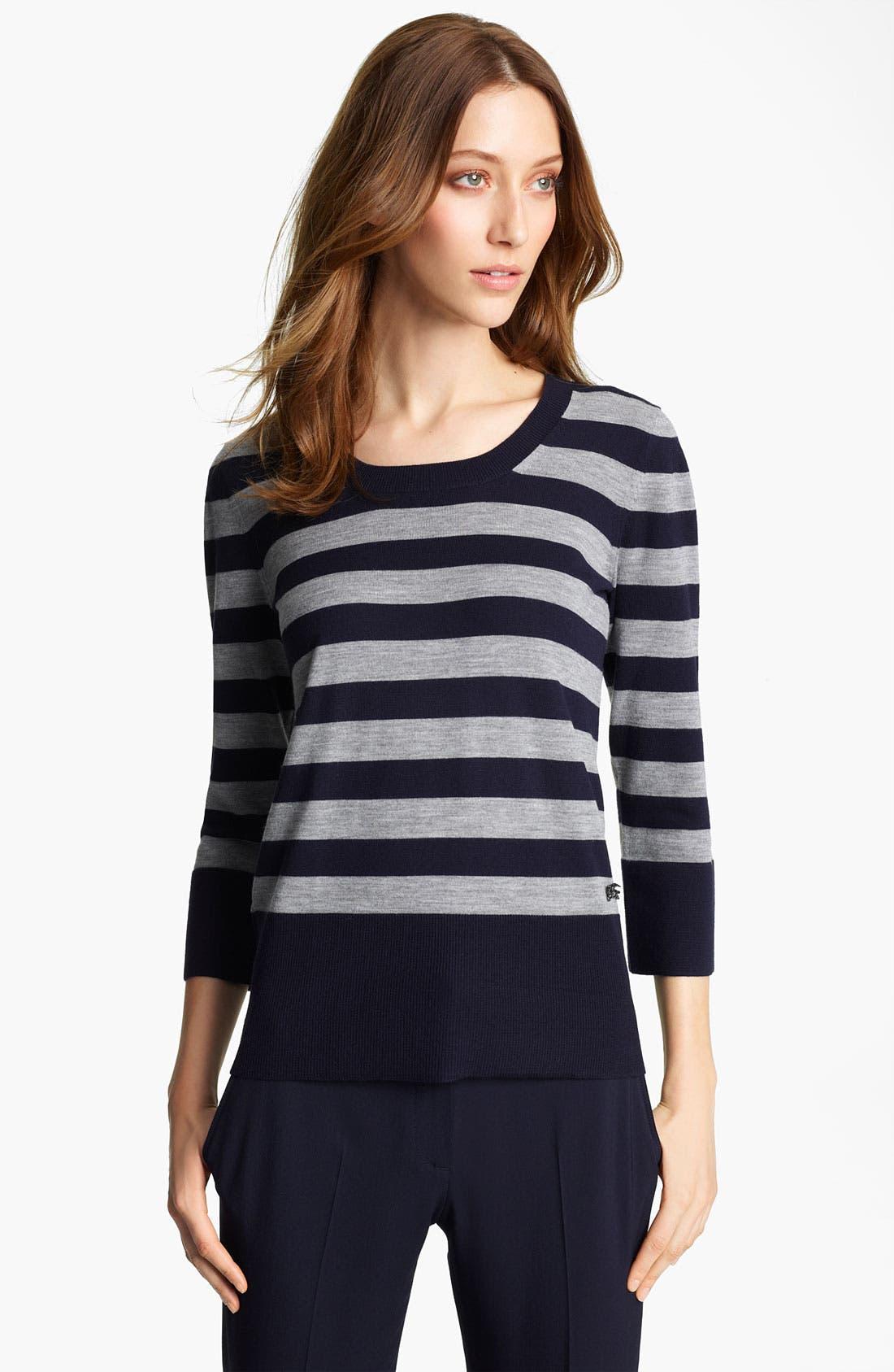 Alternate Image 1 Selected - Burberry London Stripe Knit Sweater
