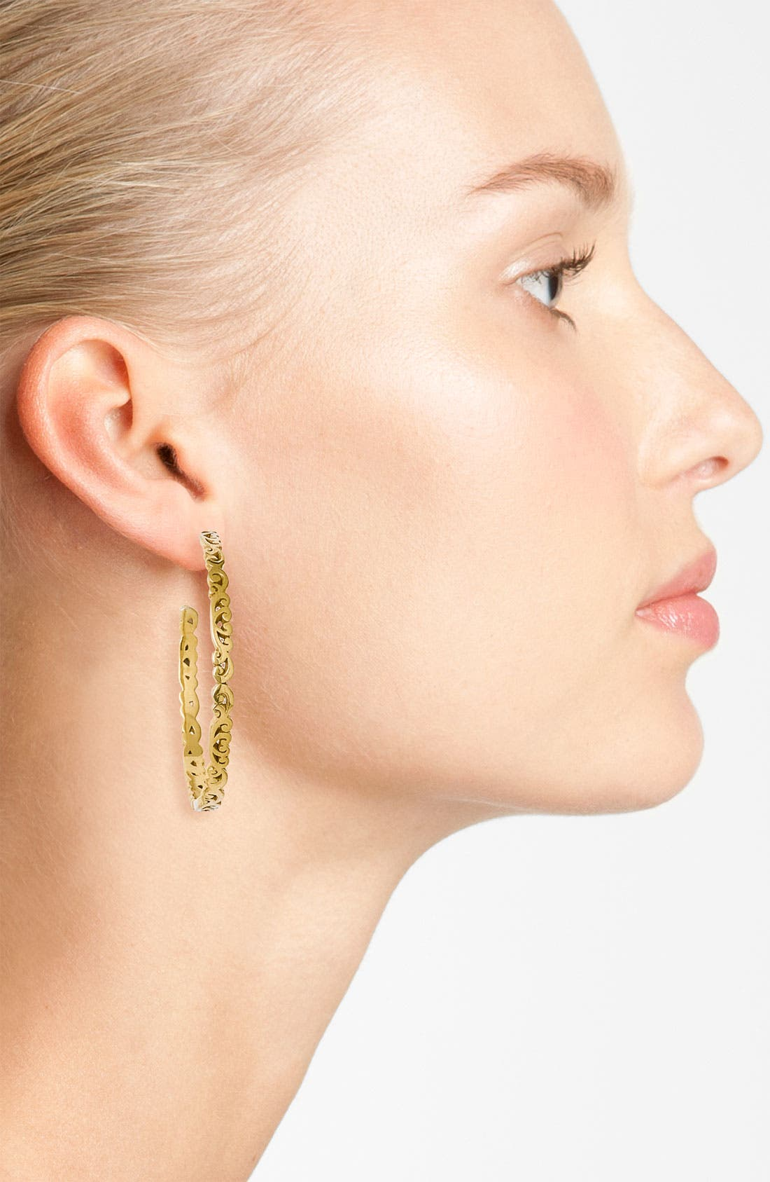 Alternate Image 2  - Lois Hill 'Two Tone Organic Geo' Thin Scroll Hoop Earrings